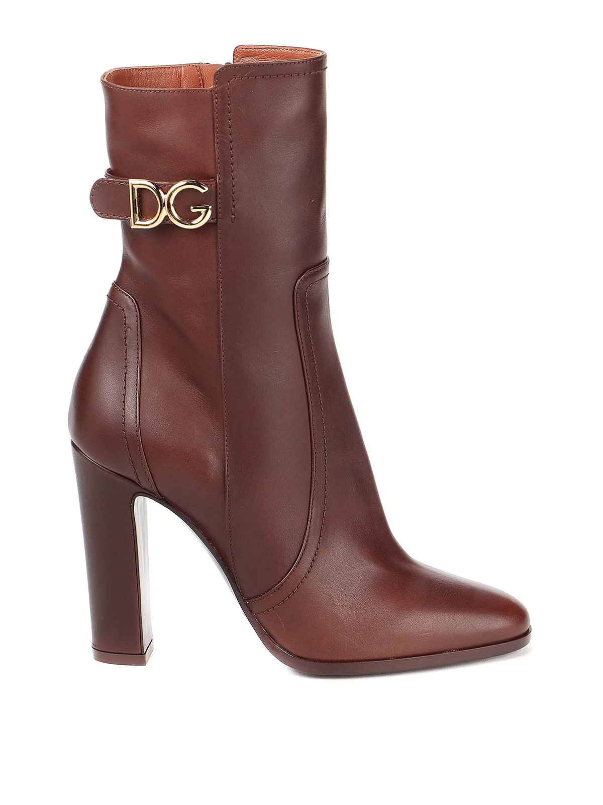 Dolce & Gabbana Leathers DG LOGO ANKLE BOOTS