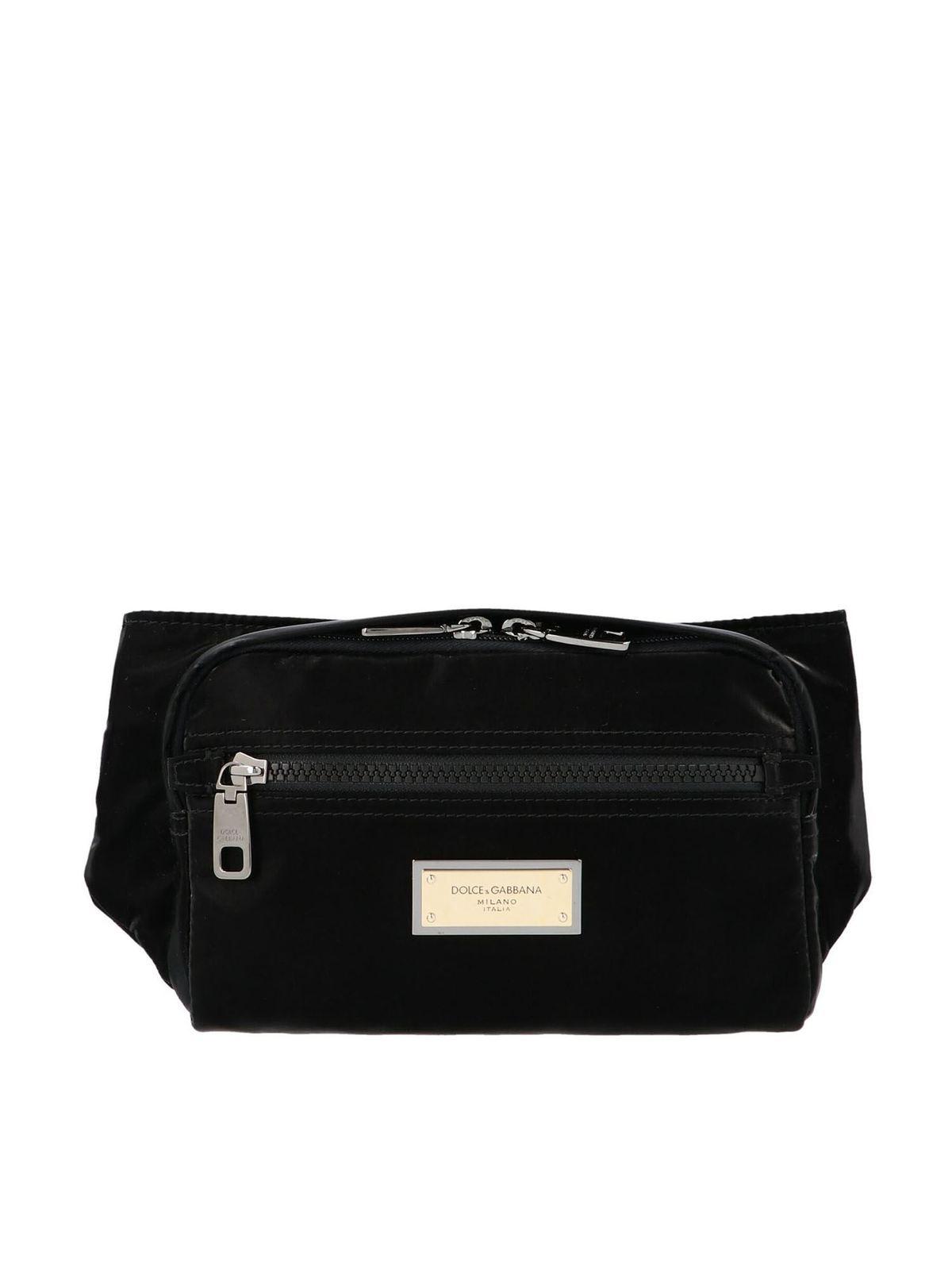Dolce & Gabbana SICILIA DNA BELT BAG IN BLACK