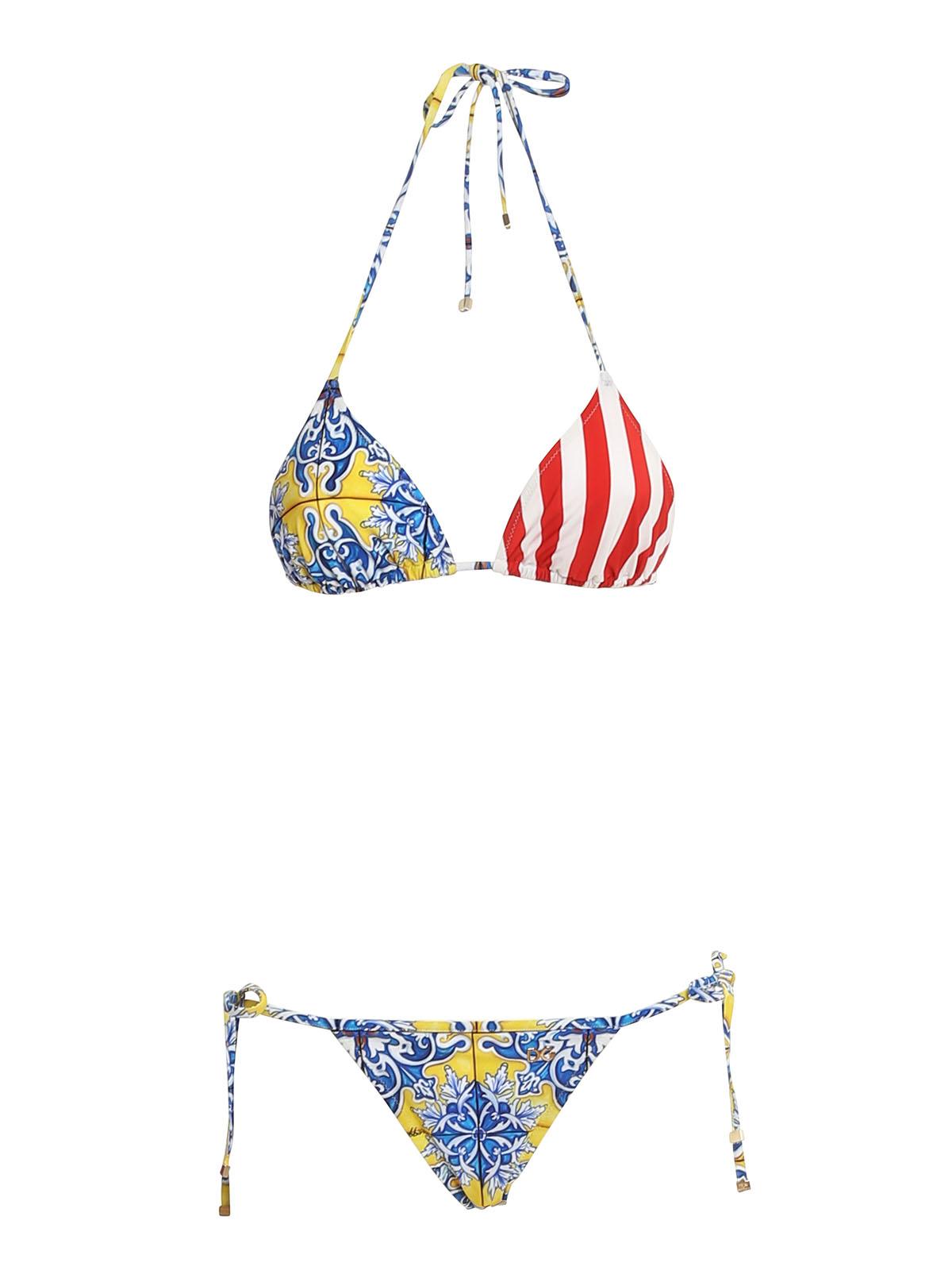 Dolce & Gabbana Bikinis PATCHWORK PATTERNED BIKINIS