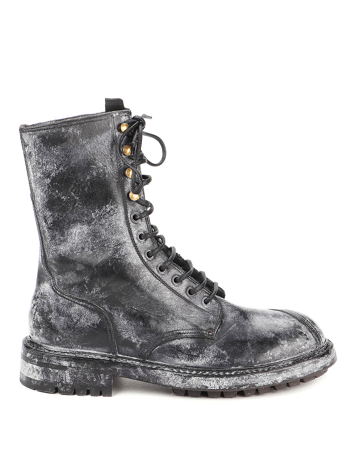 Dolce & Gabbana Leathers BERNINI VINTAGE-LOOK ANKLE BOOTS