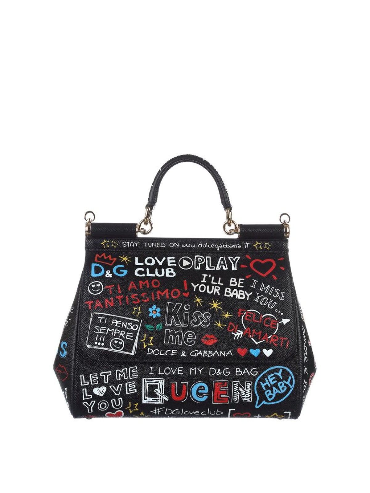Dolce   Gabbana - Sicily medium dauphine leather bag - bowling bags ... 4db522ba78ad2