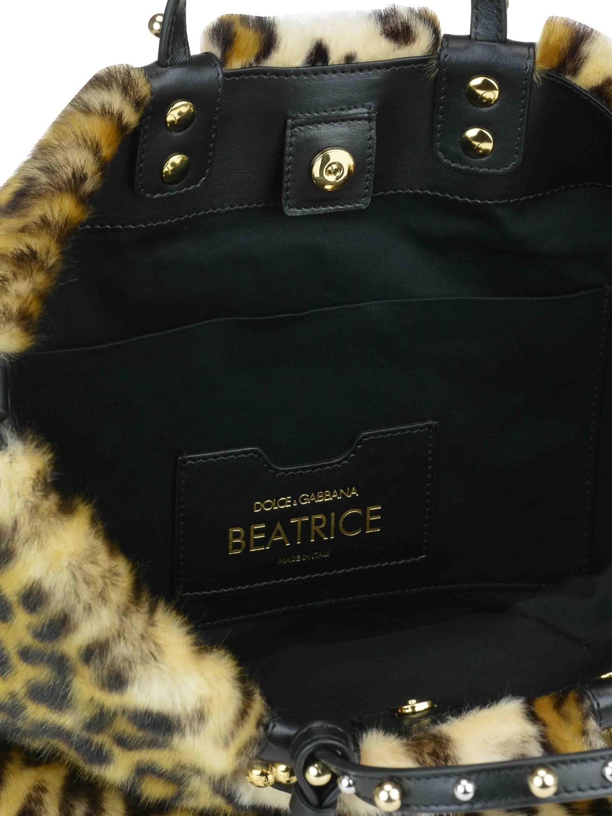 Dolce   Gabbana - Beatrice animal print faux fur small tote - totes ... 89eb55211e609