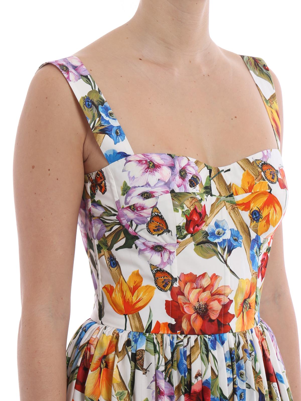 7960fee3 Dolce & Gabbana - Flower print cotton poplin sundress - maxi dresses ...