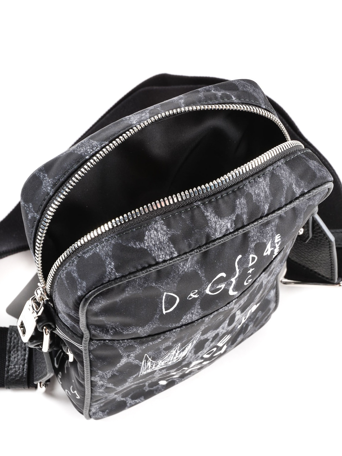 8e461dfa51 Dolce   Gabbana - Graffiti and animal print nylon bag - cross body ...