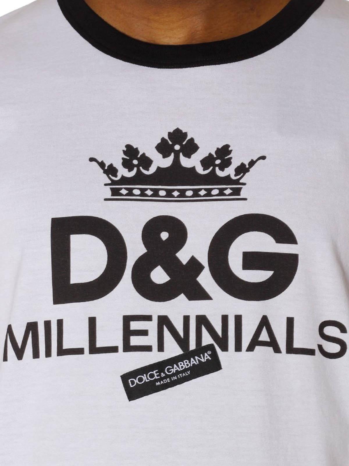 Dolce   Gabbana - T-shirt con stampa Millennials - t-shirt ... a80813ef7c2
