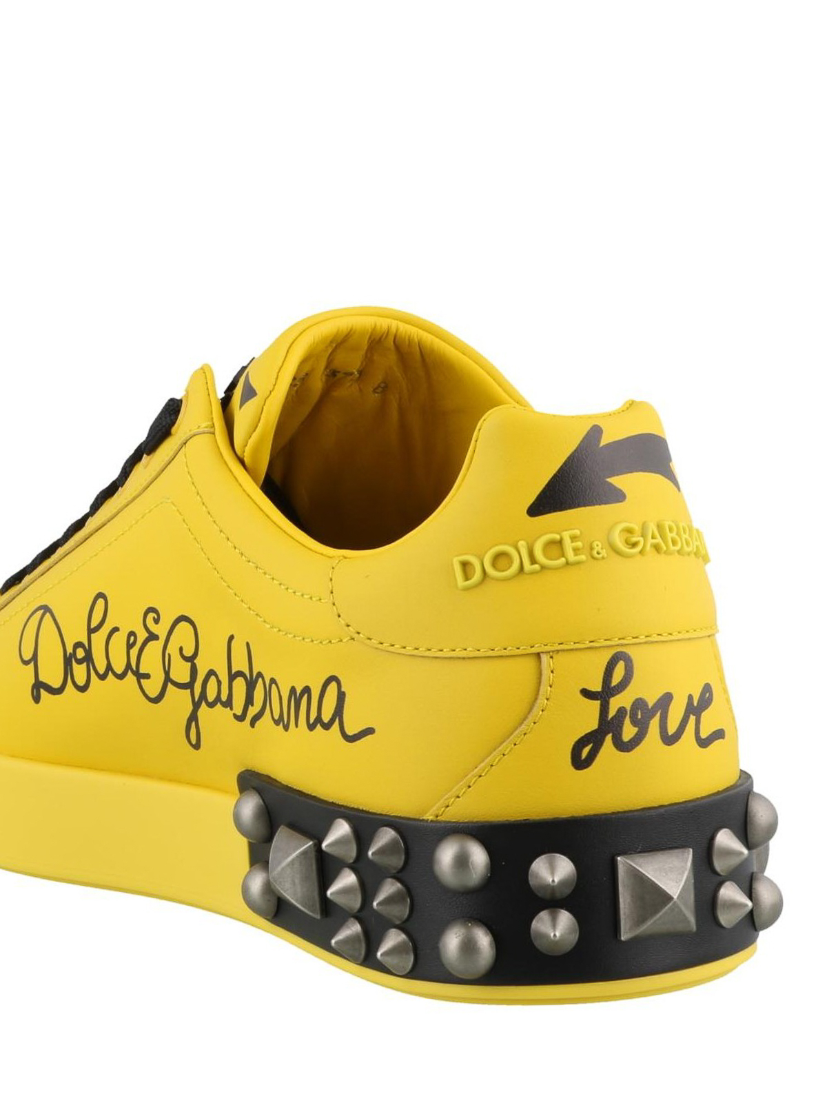88ff16fc9fb8 Dolce   Gabbana - Patch detail Portofino yellow sneakers - trainers ...