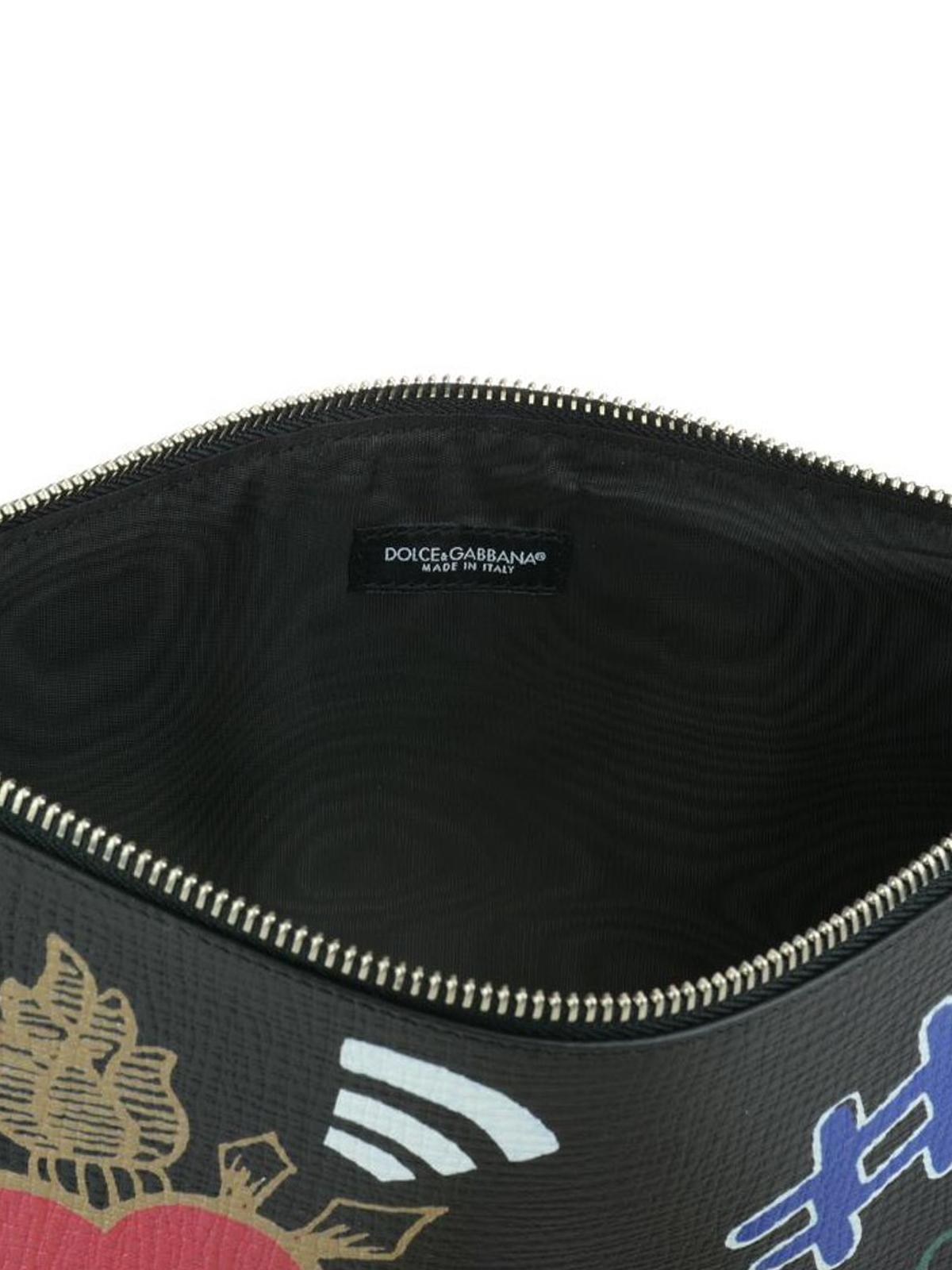 0fdf0f5b3ecea Dolce   Gabbana - Portadocumenti in pelle stampata - pochette ...
