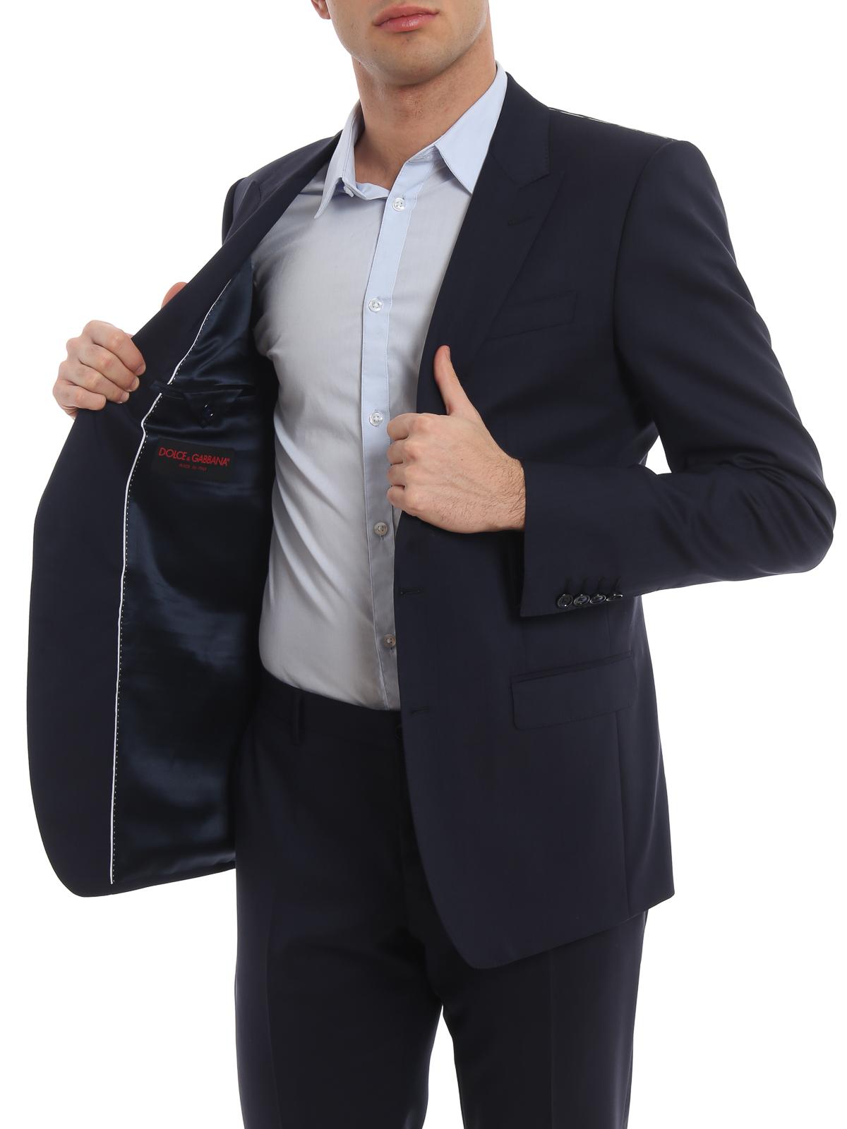new product 2f7e5 0756f Dolce & Gabbana - Eleganter Anzug - Dunkelblau - Elegante ...
