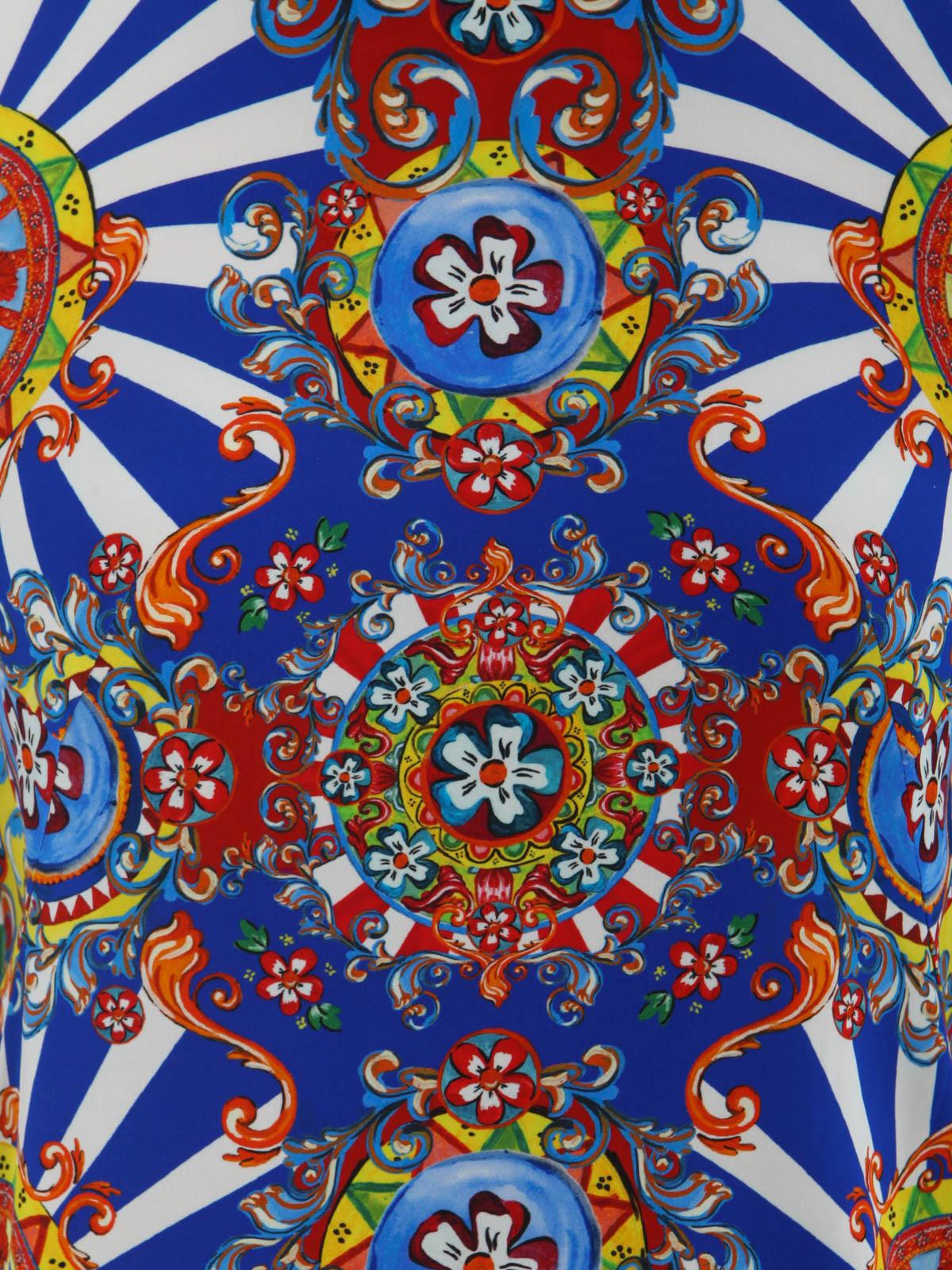 Dolce Amp Gabbana Carretto Siciliano Print T Shirt T