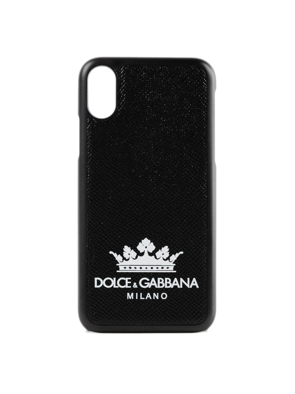 buy online 5229d 619a2 Dolce & Gabbana - Logo print Dauphine leather iPhone X case ...