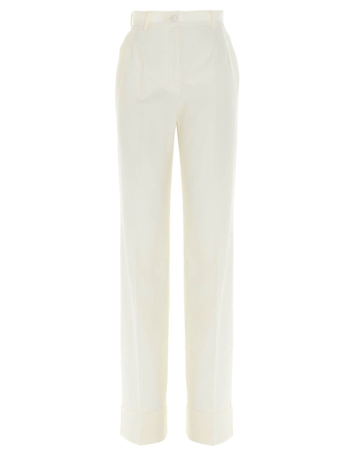 Dolce & Gabbana PALAZZO PANTS IN WHITE