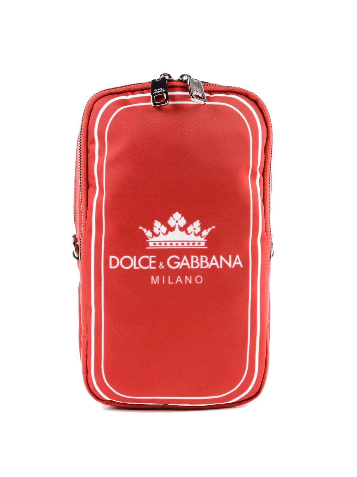 9fe67effc0 Dolce   Gabbana - Mediterraneo logo print red nylon bag - cross body ...