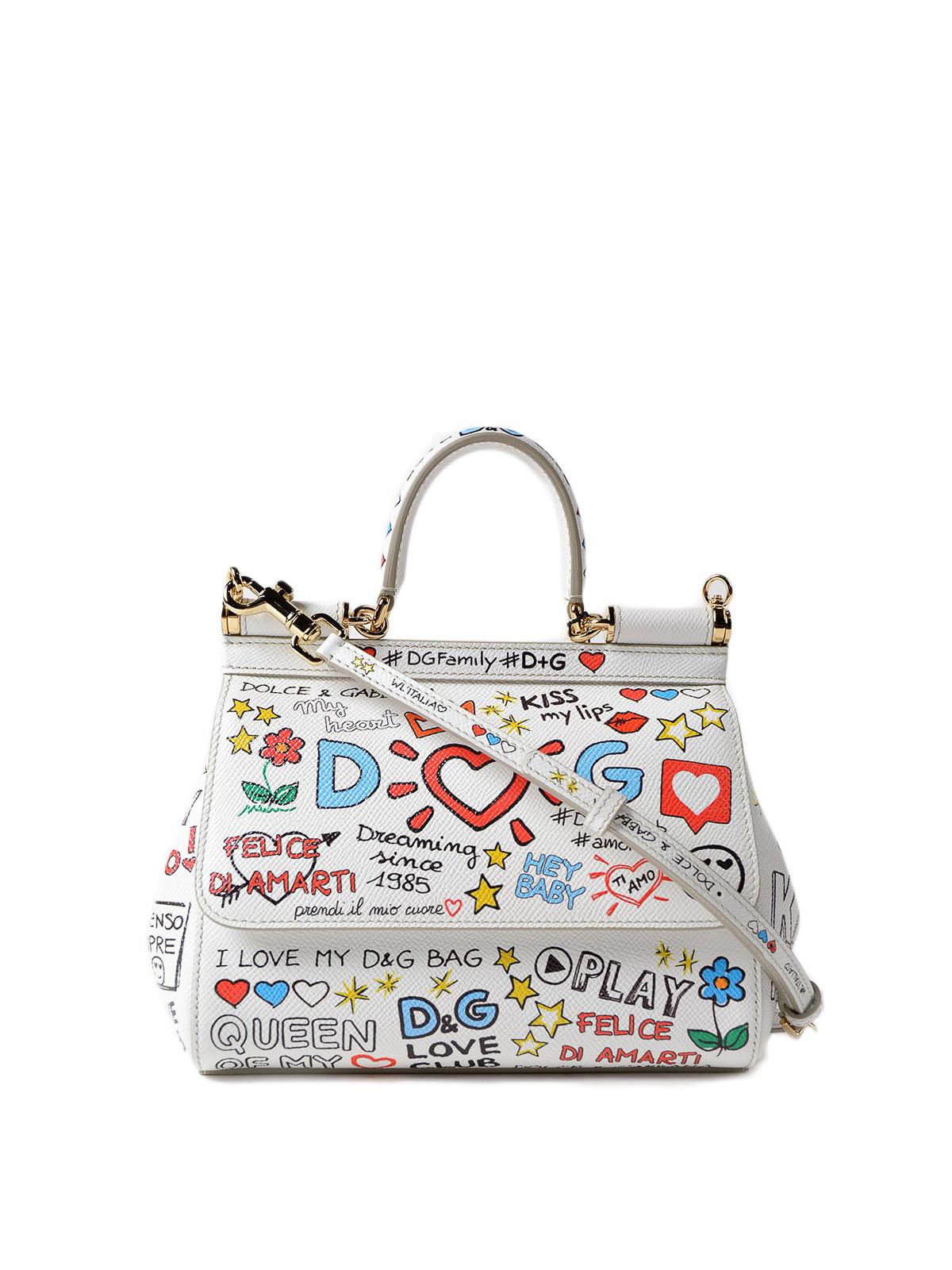 Dolce   Gabbana - Sicily mural print small handbag - cross body bags ... 48593ddc2bb93