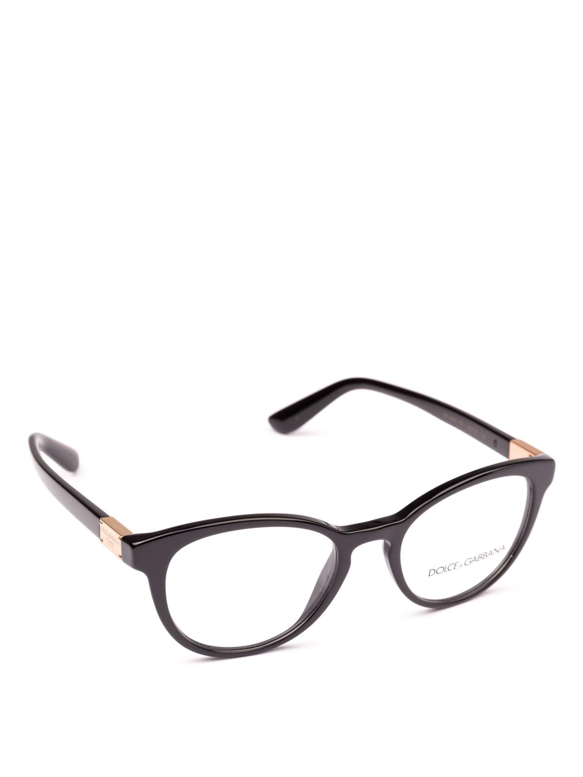 ce0dc975df2 Dolce   Gabbana - Black acetate pantos optical glasses - glasses ...