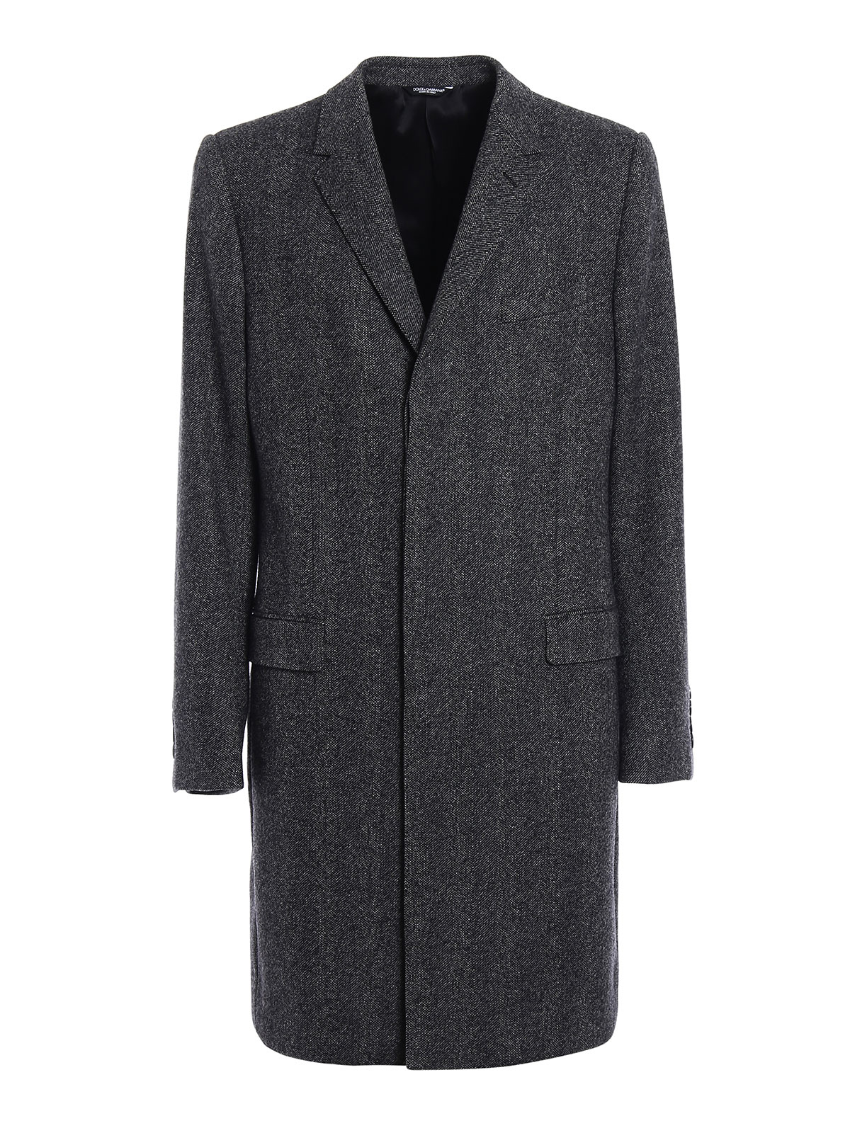 Wool cashmere blend tweed coat by Dolce & Gabbana