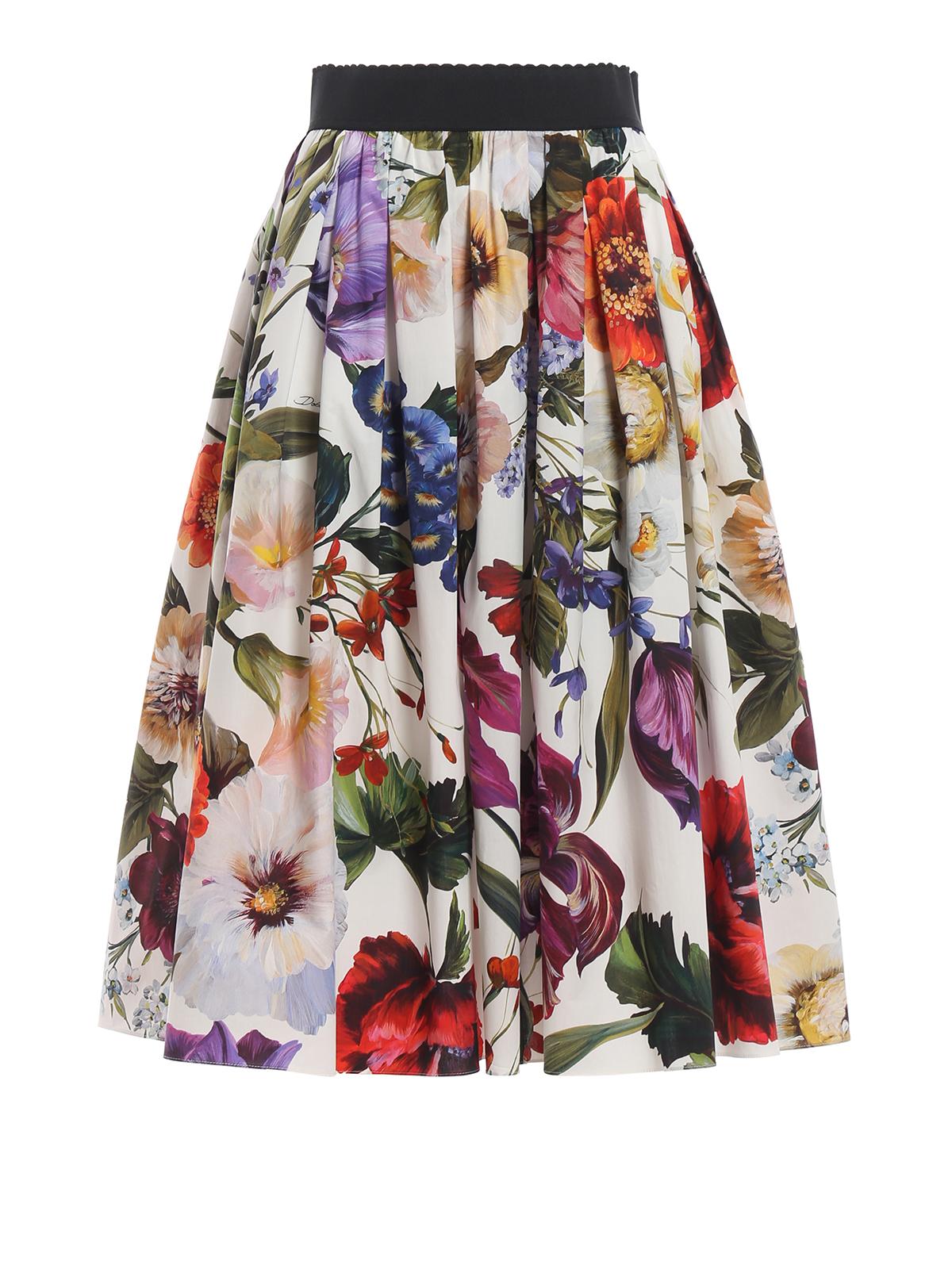 metà fuori d6045 14b97 Dolce & Gabbana - Gonna stampa fiori - gonne al ginocchio e ...