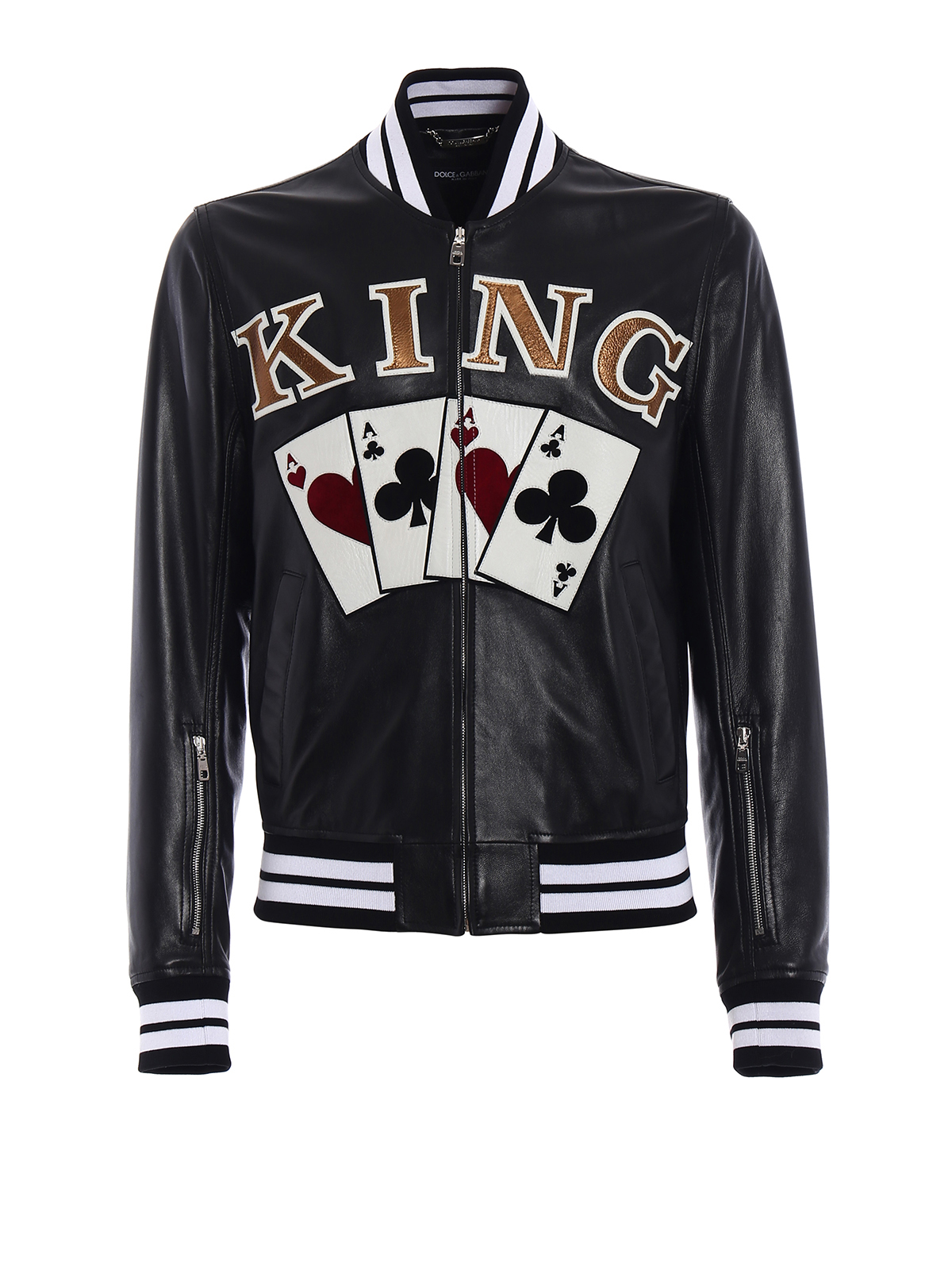 Dolce & Gabbana Blouson En Cuir King Vestes en cuir