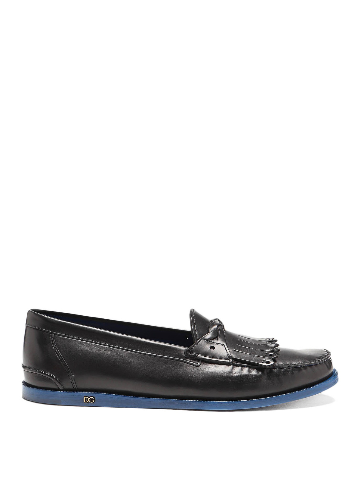 Dolce & Gabbana Loafers BLACK LEATHER LOAFERS