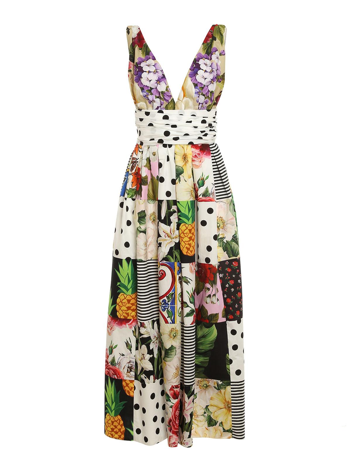 Dolce & Gabbana Cottons PATCHWORK PATTERNED DRESS