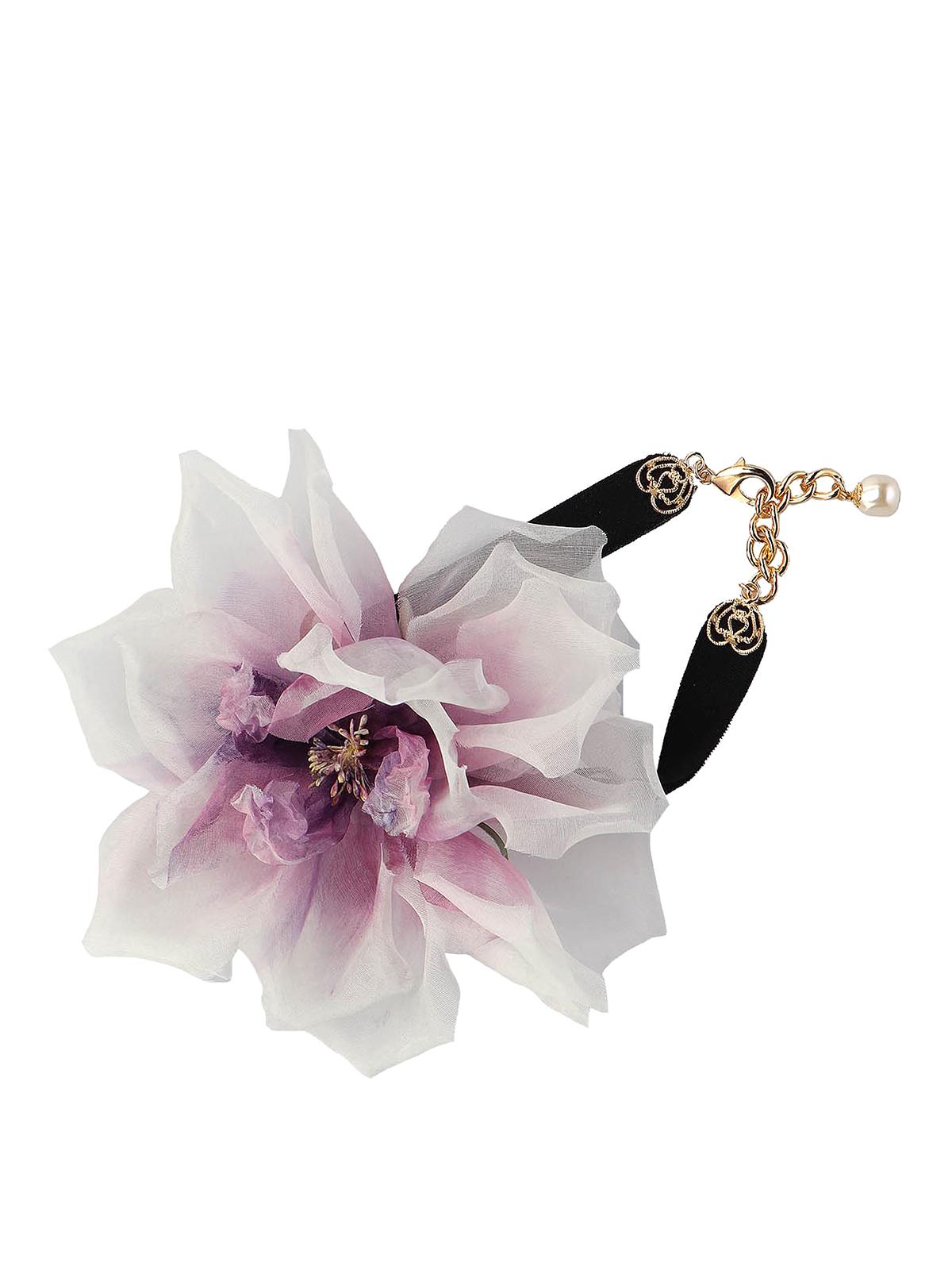 Dolce & Gabbana Chokers SILK-BLEND FLOWER CHOKER