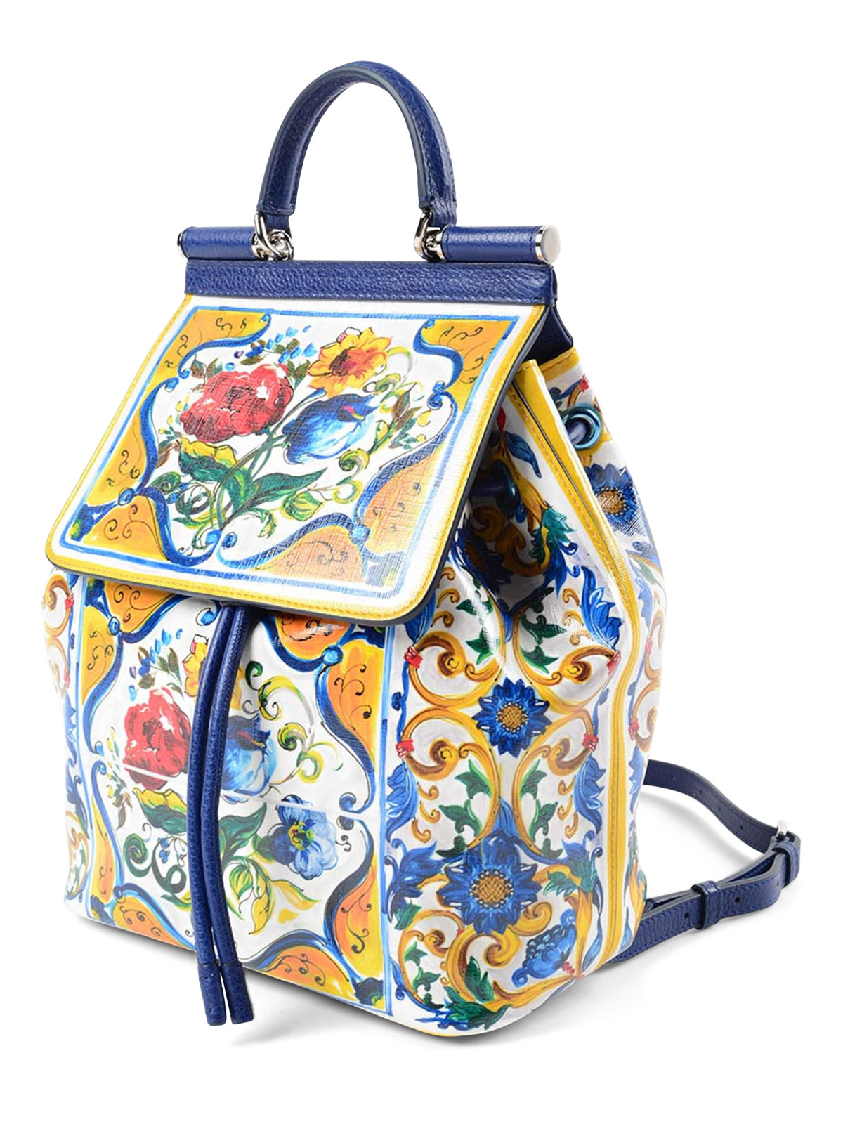 a0ef6e619974 DOLCE   GABBANA  backpacks online - Majolica print Sicily backpack