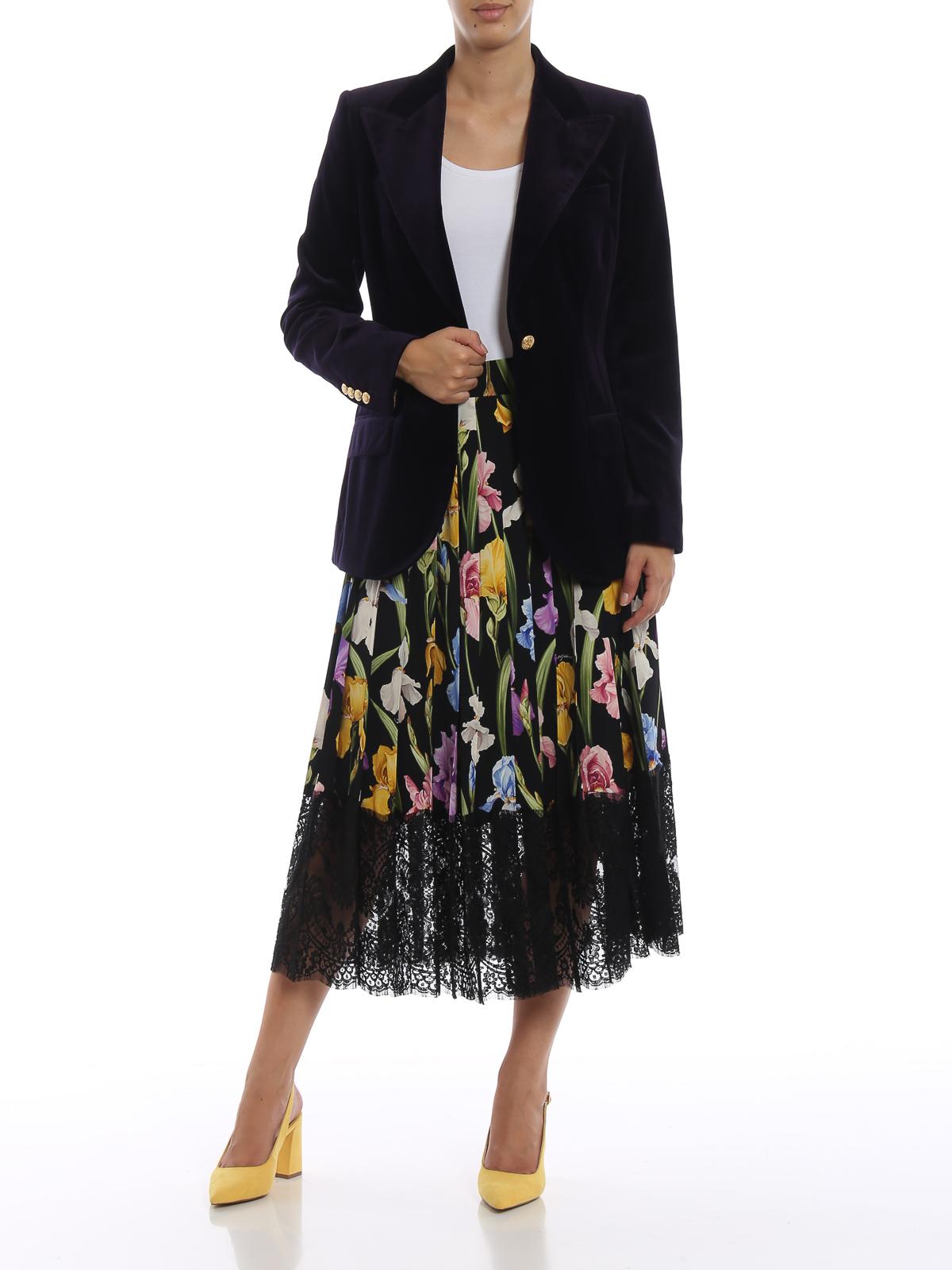 In Blazer Velluto amp; Liscio Dolce Giacche Melanzana Color Gabbana qFtvx1
