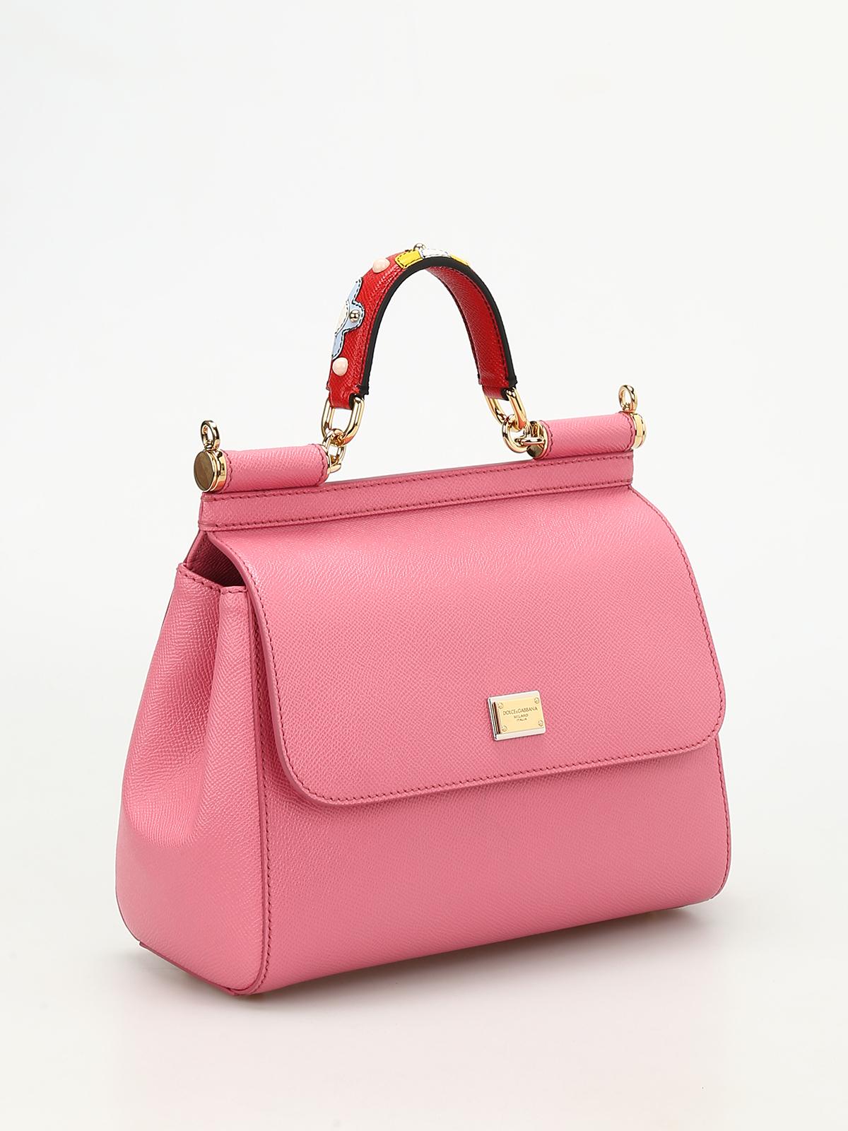 DOLCE   GABBANA  bowling bags online - Sicily medium leather bag 9ab9d2c15dc1d
