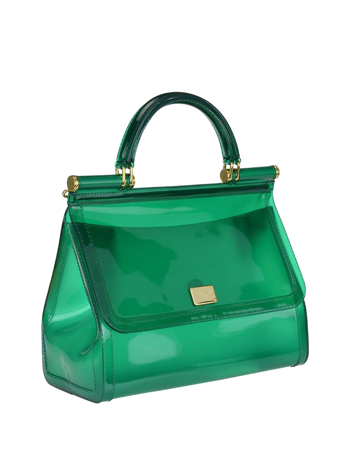 f5be2c797f67 DOLCE   GABBANA  bowling bags online - Sicily semi-transparent rubber large  bag