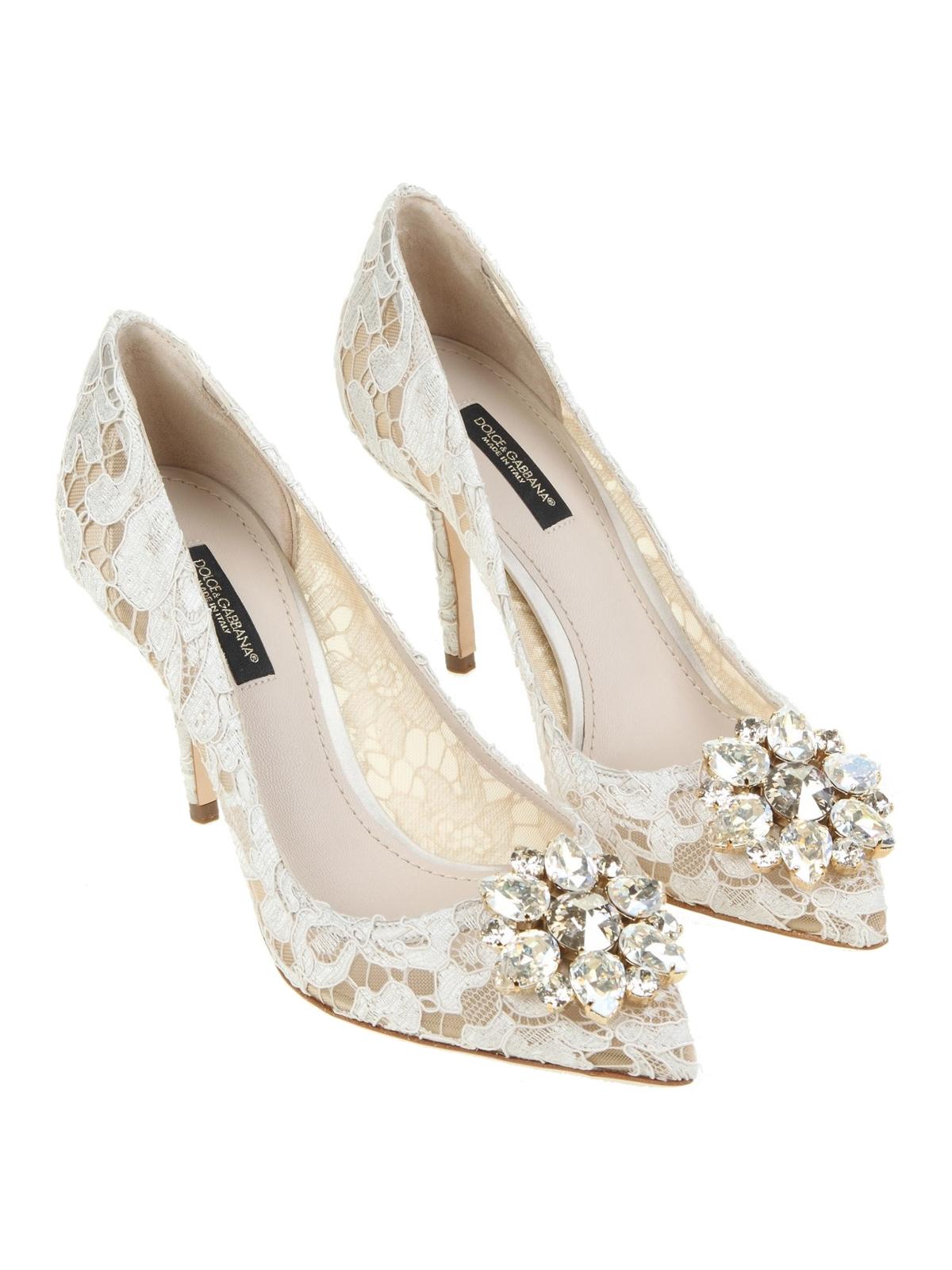 61c0092a30e DOLCE   GABBANA  court shoes online - Bellucci white lace pumps