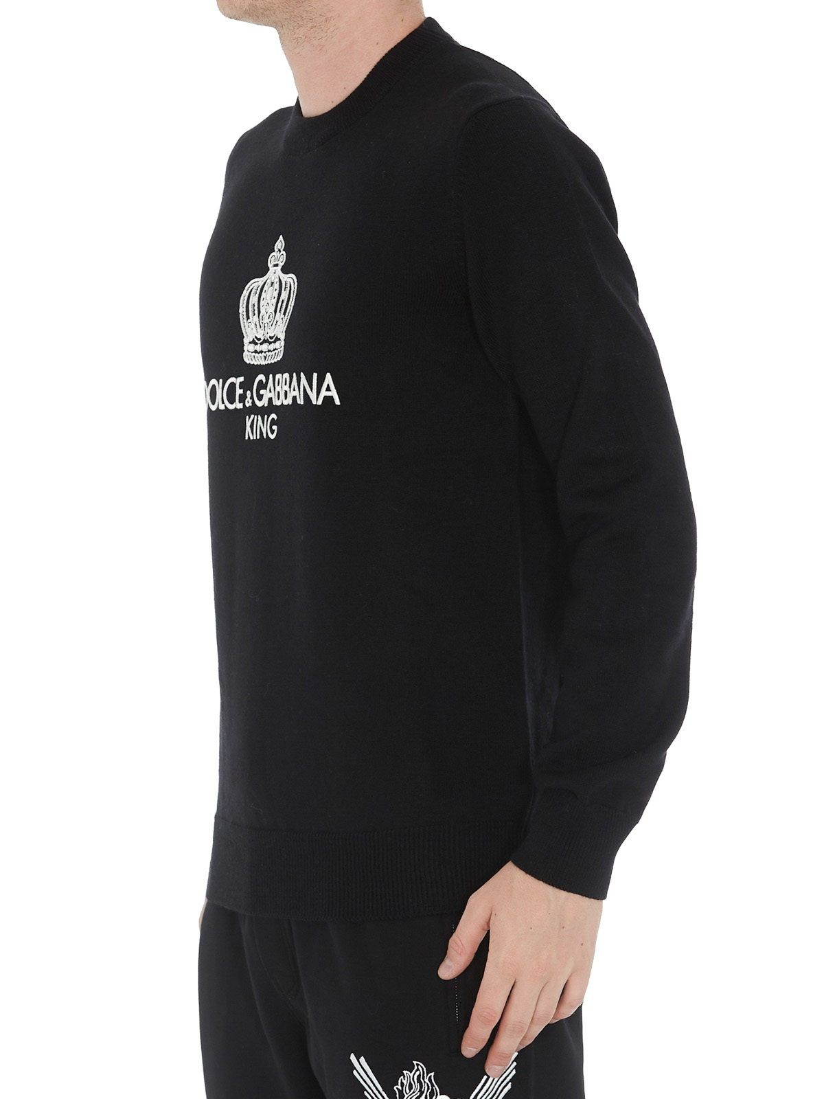 Dolce & Gabbana Pull Col Rond Noir Pull col rond