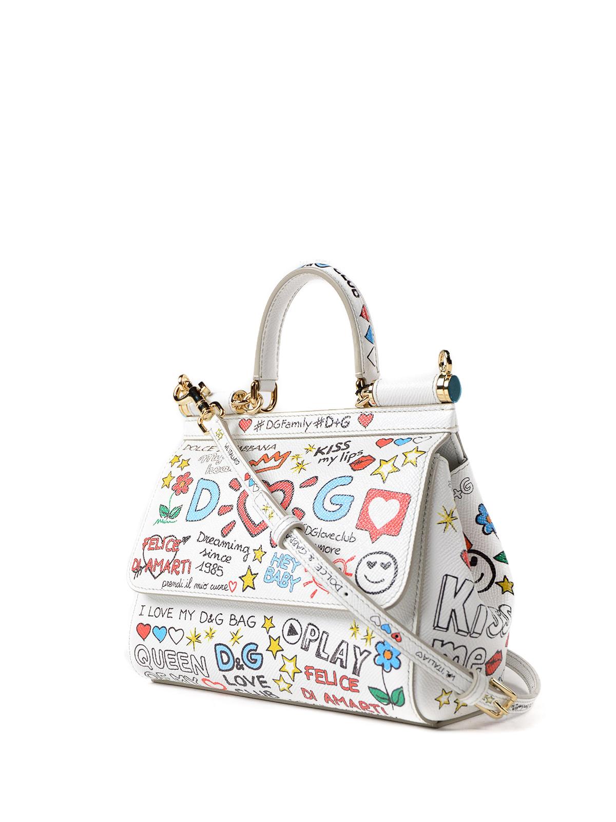 DOLCE   GABBANA  cross body bags online - Sicily mural print small handbag e34d147d8e1d6