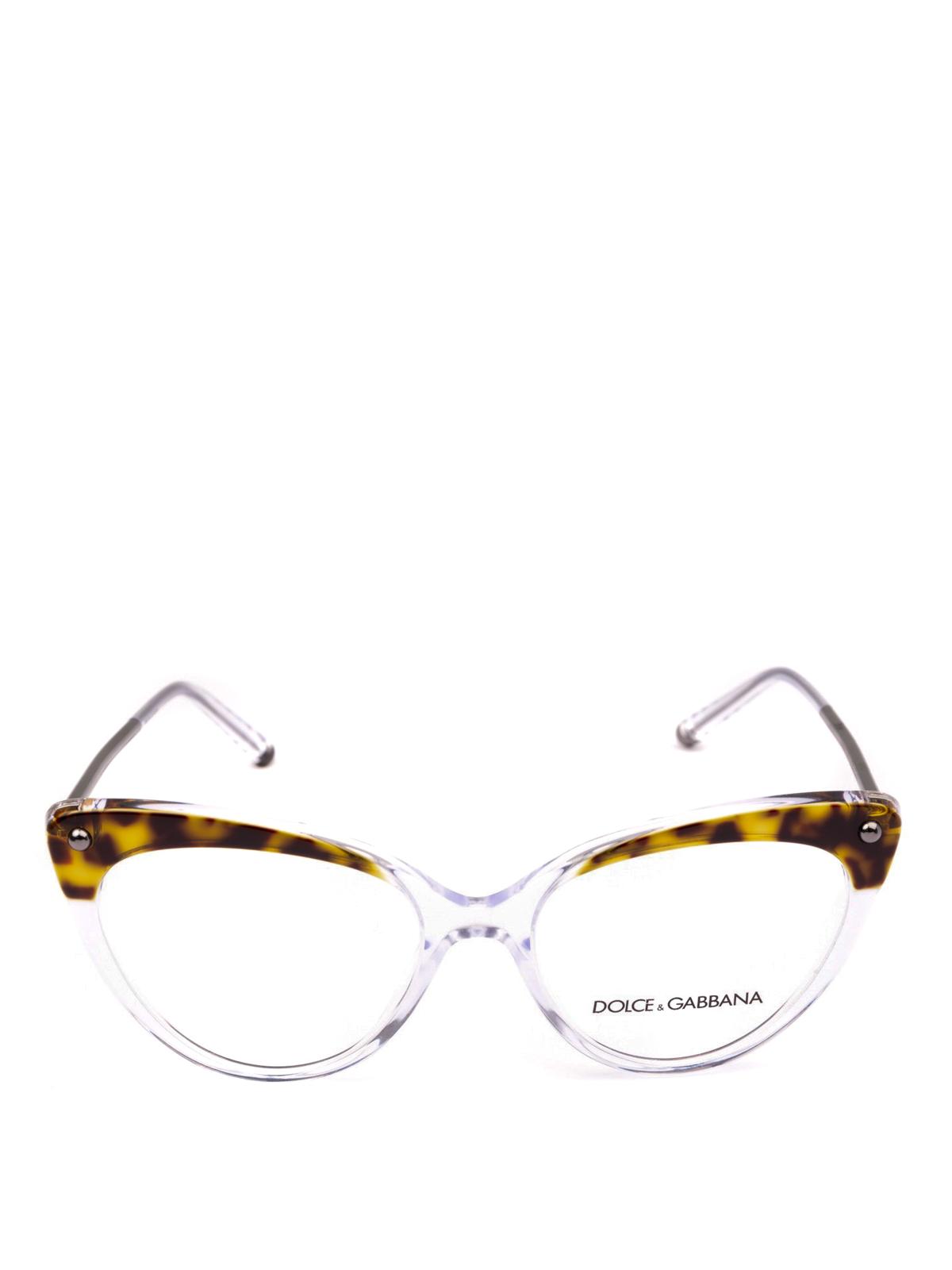 d7a1efa4d565 DOLCE & GABBANA: Glasses online - Animal print top cat eye optical glasses