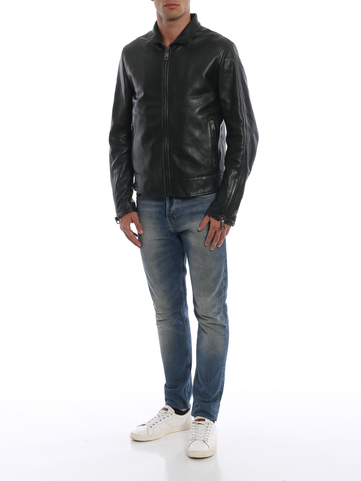 100% authentic e2829 39f13 Dolce & Gabbana - Giubbotto biker in morbida pelle di ...
