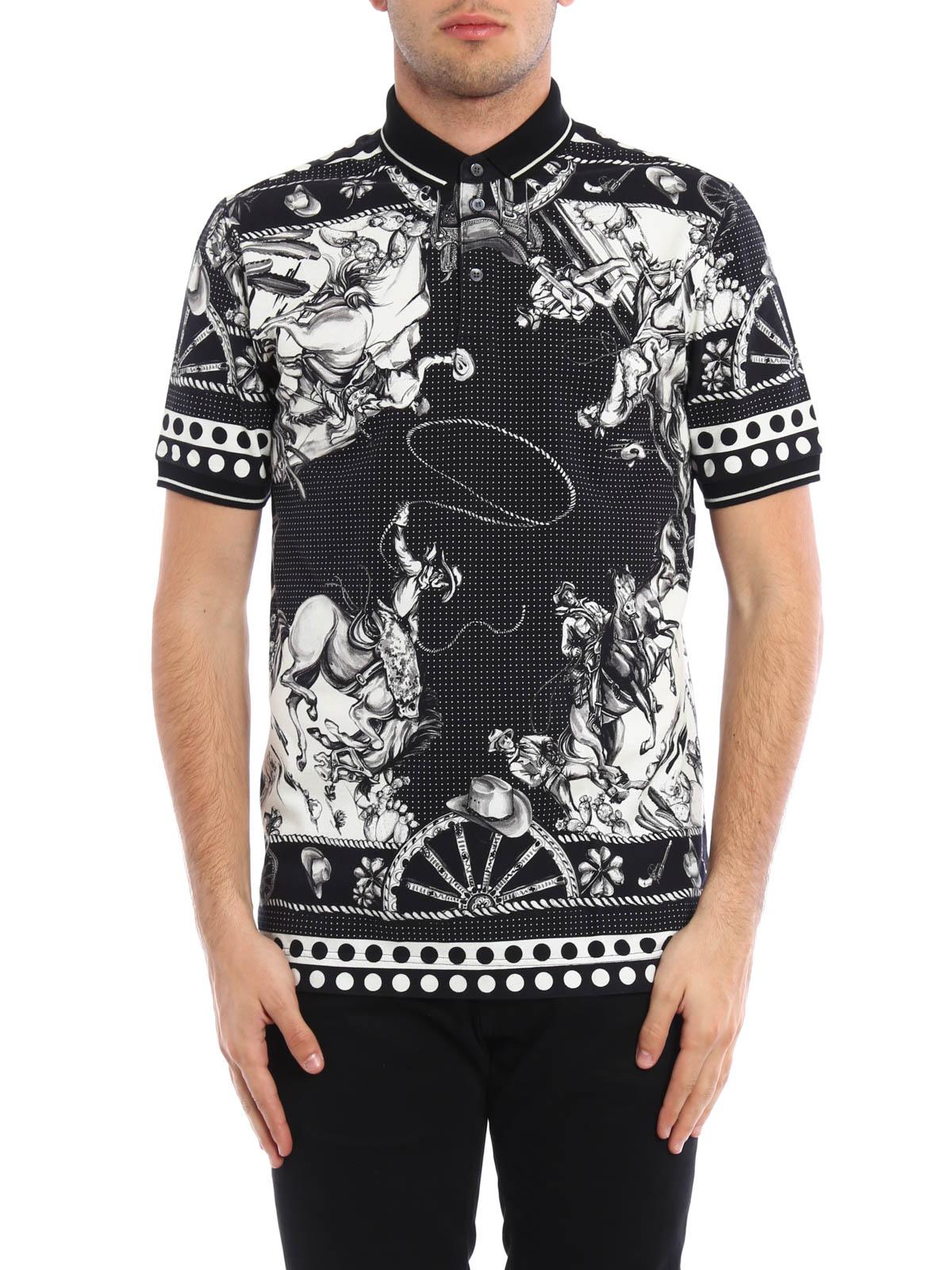 409cc89e6818 DOLCE   GABBANA  polo shirts online - Sicilian western polo shirt