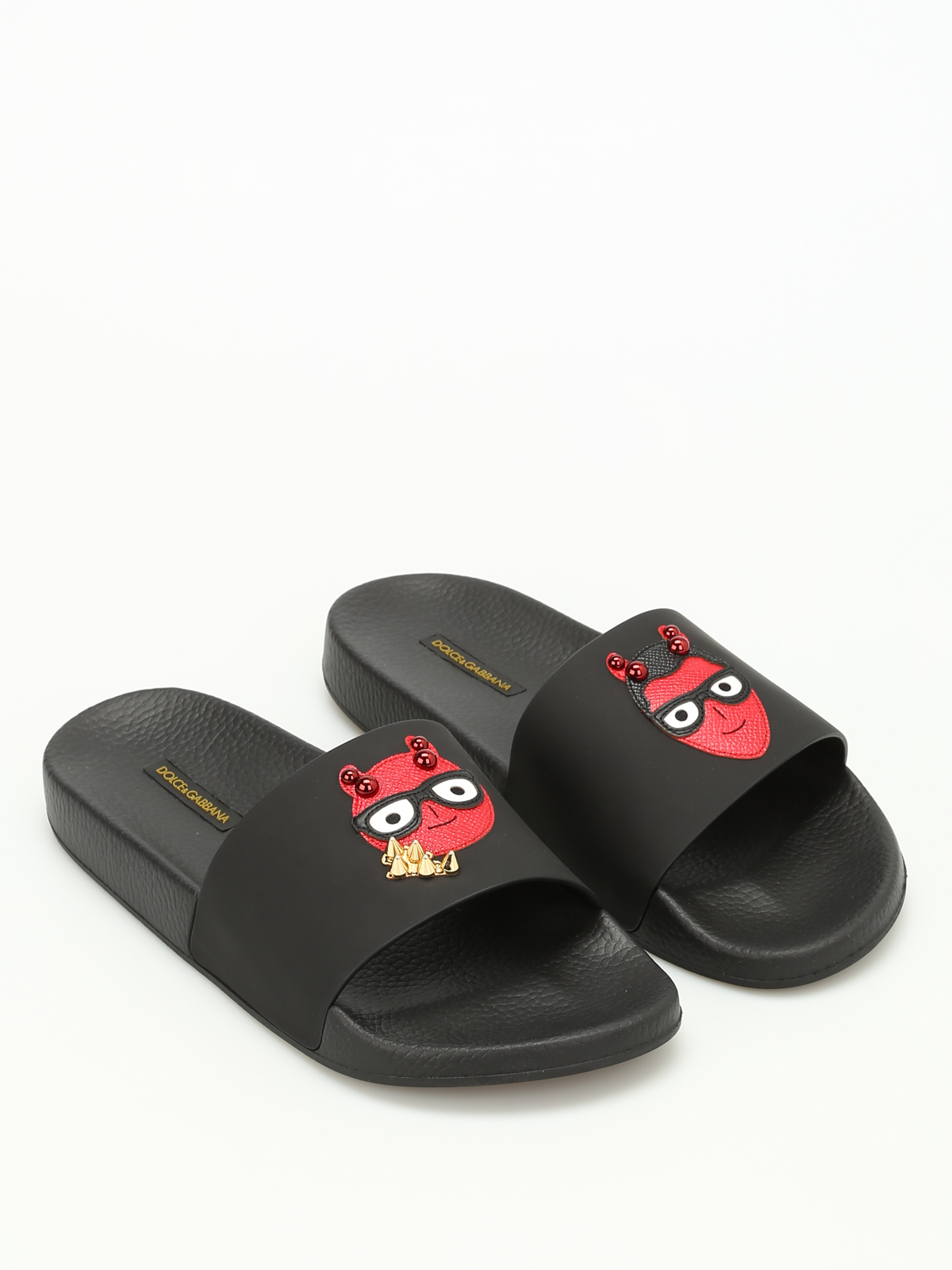 5ff15f8ee617 Dolce   Gabbana - Designer patch slides - sandals - CS1489 AH126 8B956