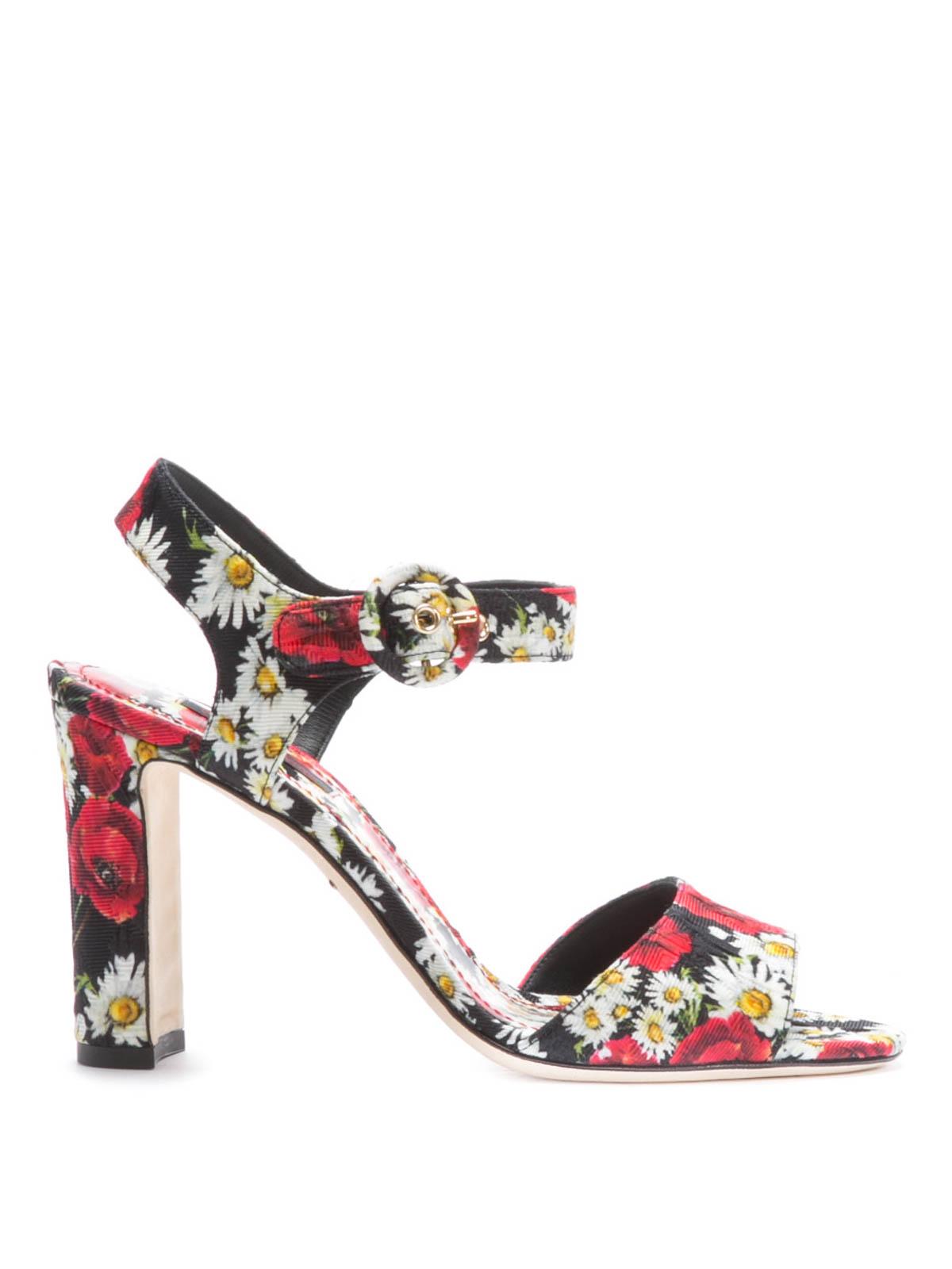 Dolce   Gabbana - Sandalo stampa floreale - sandali - CR0107 AR384 8Q885 520555c92ea