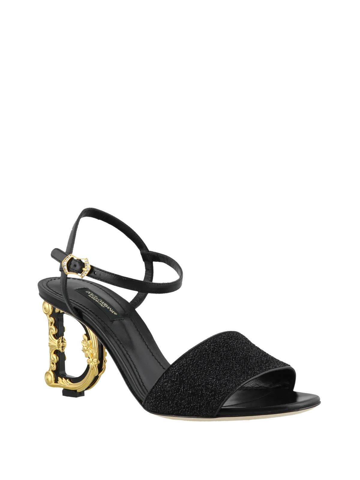 Dolceamp; Gabbana Tacco In Sandali Lurex Con Keira Scultura Nn0m8w
