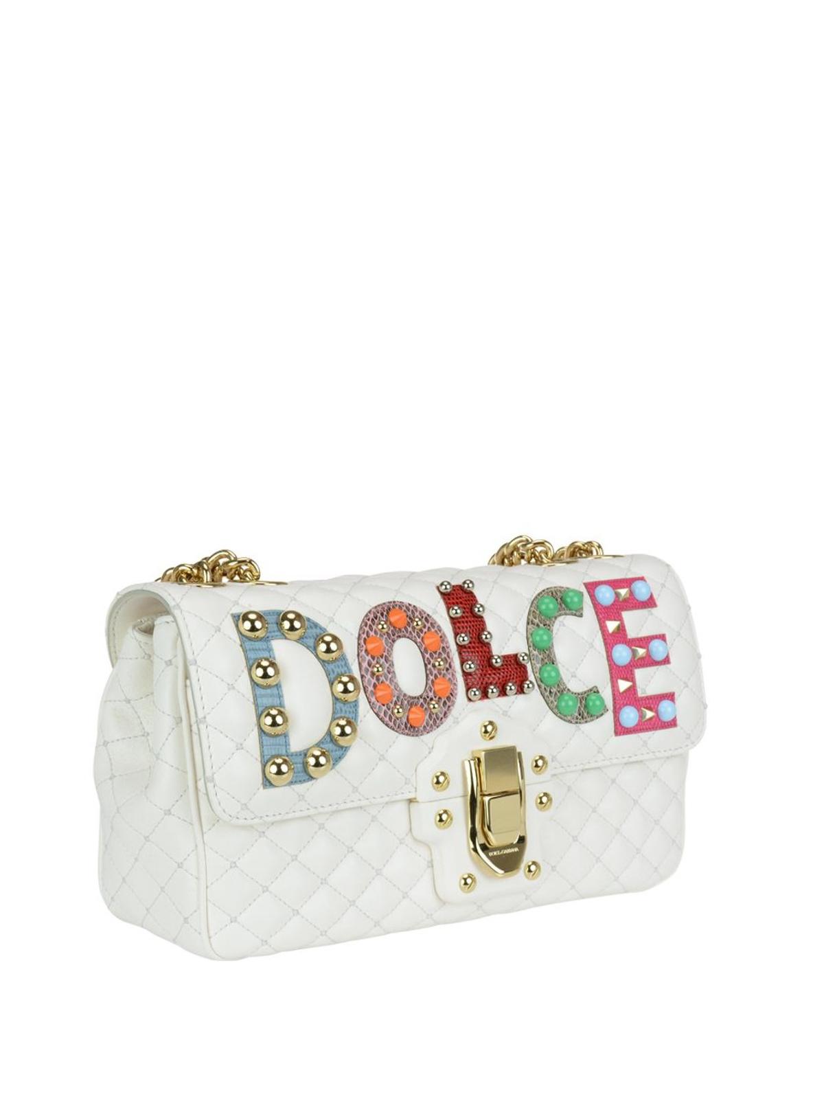 Dolce & Gabbana Lucia white matelasse nappa bag Liwrq
