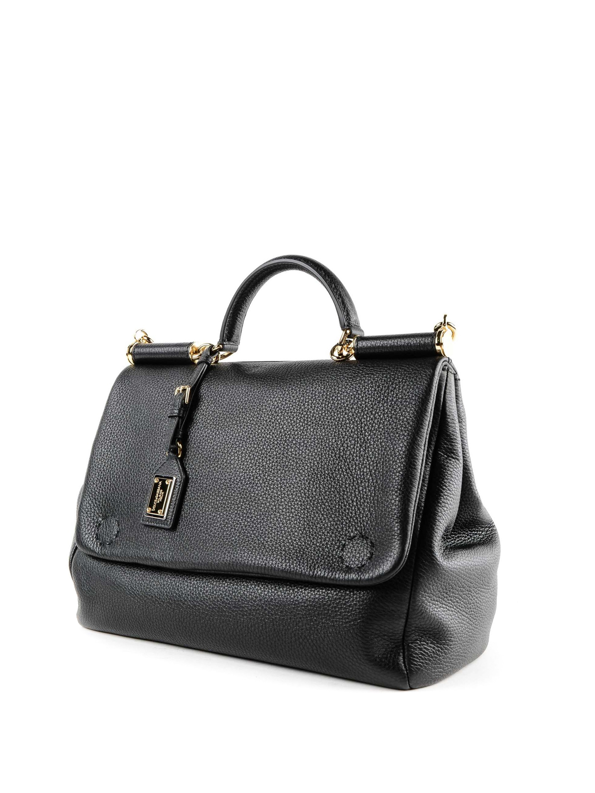 1c34aa6ca3 DOLCE   GABBANA  shoulder bags online - Sicily black grained leather bag