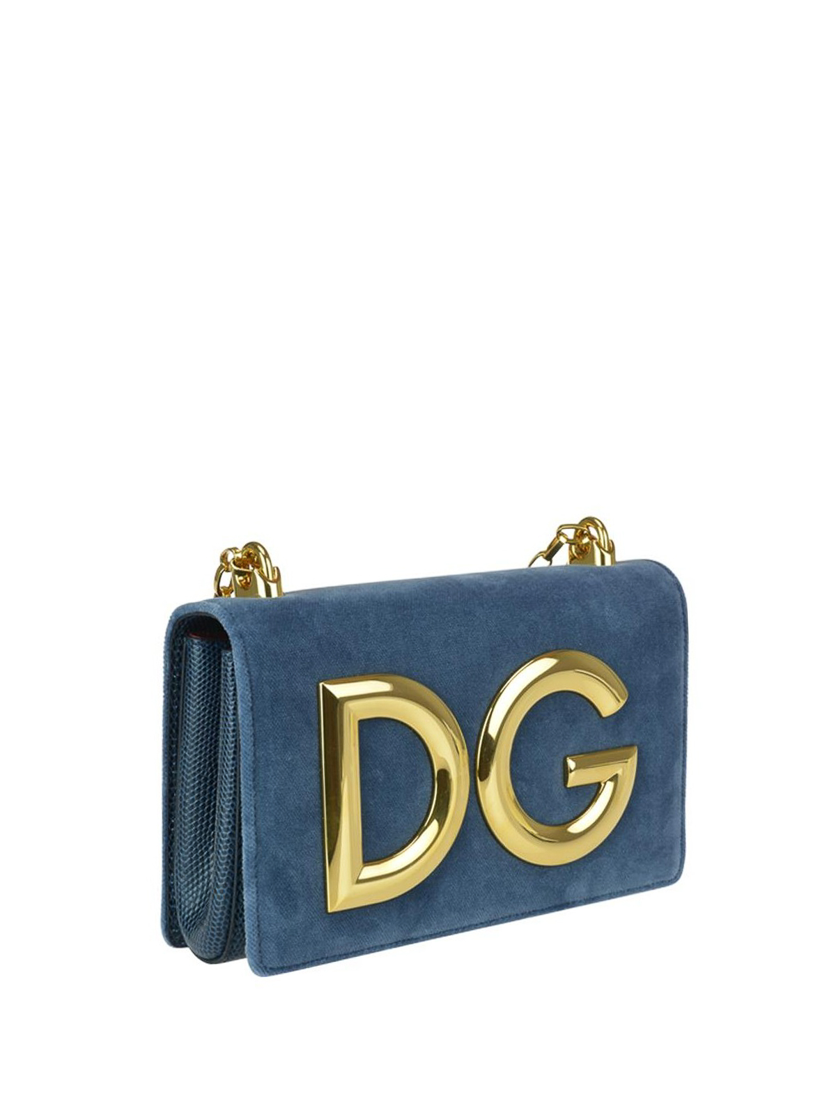 0ed744b470 DOLCE   GABBANA  shoulder bags online - Velvet and reptile print leather DG  Girls bag