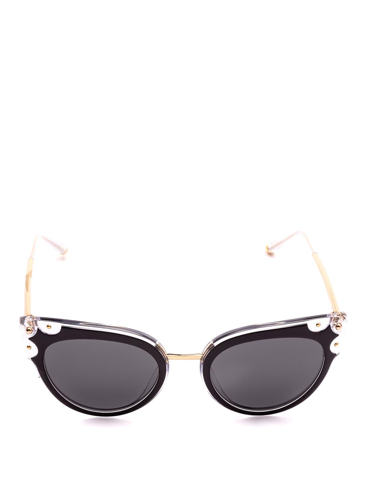 055c5484d45c19 DOLCE   GABBANA  occhiali da sole online - Occhiali a occhi di gatto neri e