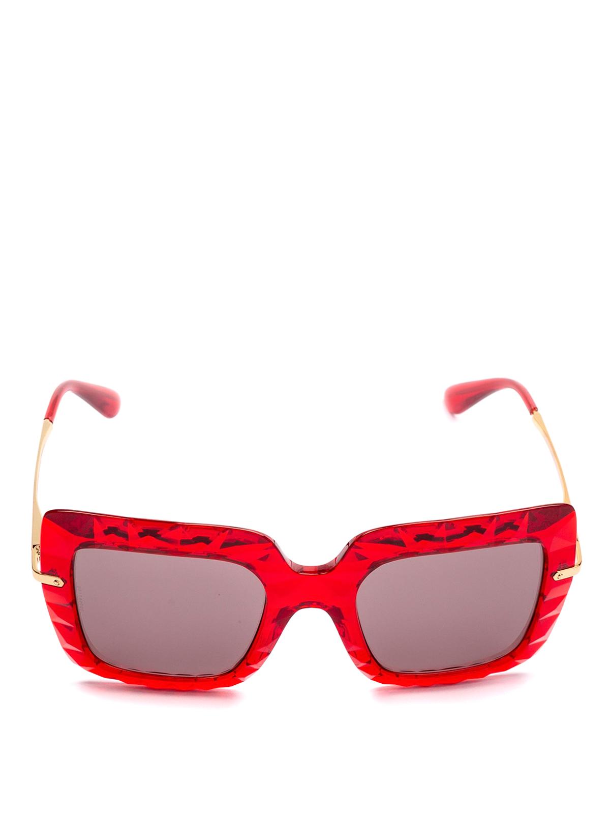 ff4622506899 Dolce & Gabbana - Red oversized sunglasses - sunglasses - DG6111 31477N