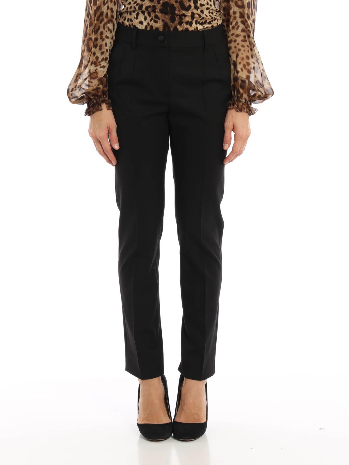DOLCE   GABBANA  Pantalons élégants online - Pantalon Ajusté Noir Pour Femme df09531e047b
