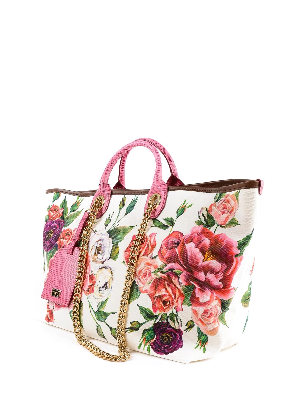 Dolce & Gabbana - Shopper Capri media in canvas stampato