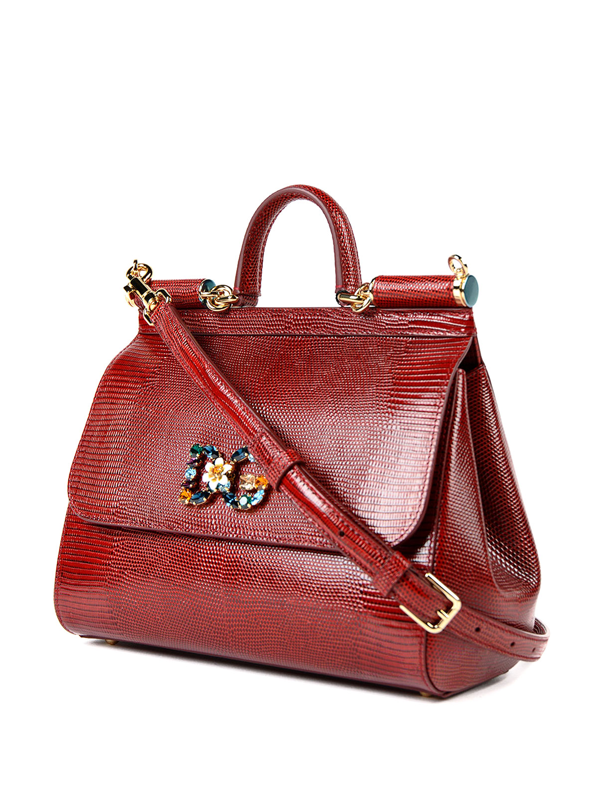 aca7d82337 DOLCE & GABBANA: totes bags online - Medium Sicily bag with logo patch