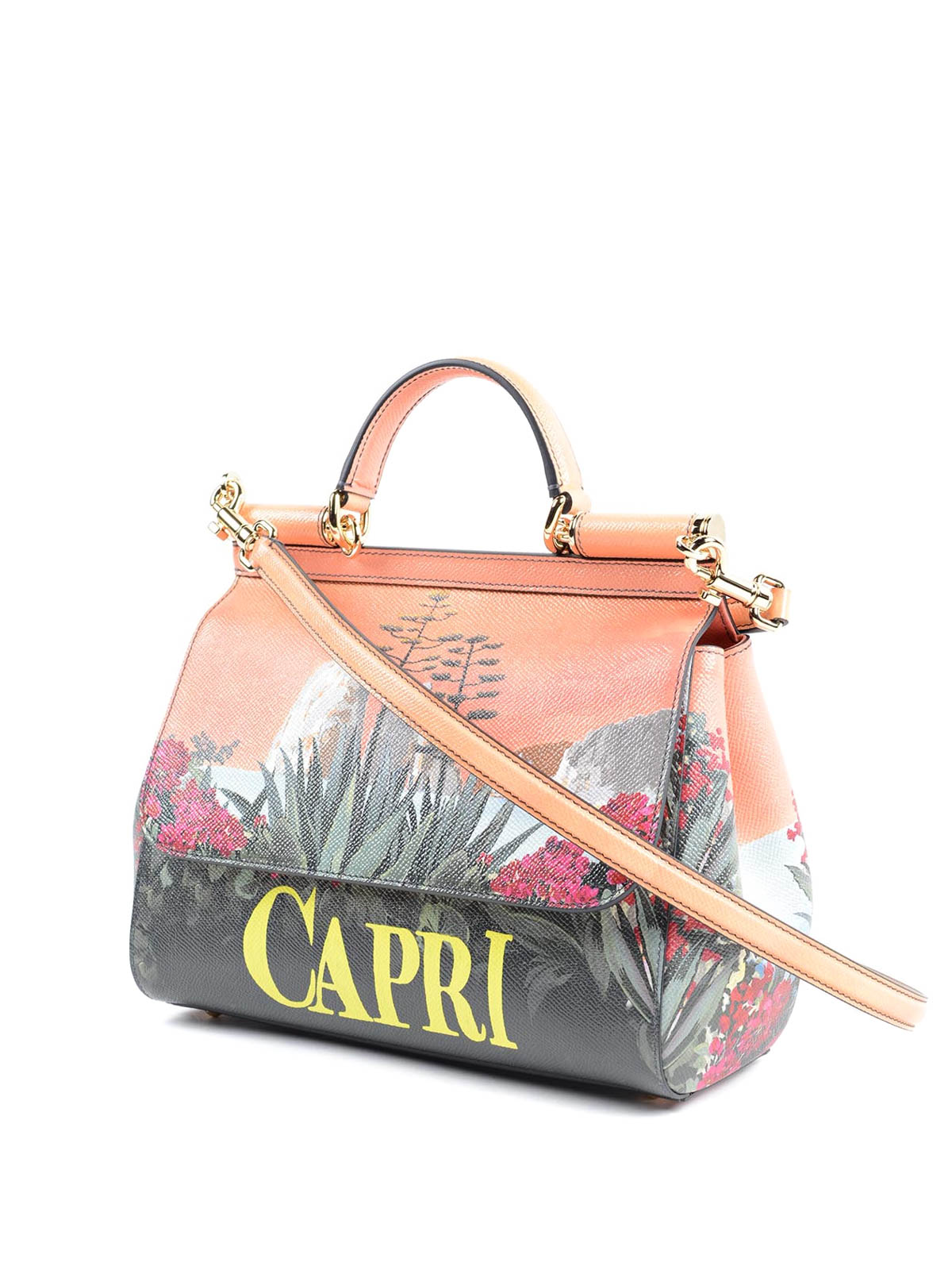 DOLCE   GABBANA  totes bags online - Sicily Capri printed leather bag ac418bba40610