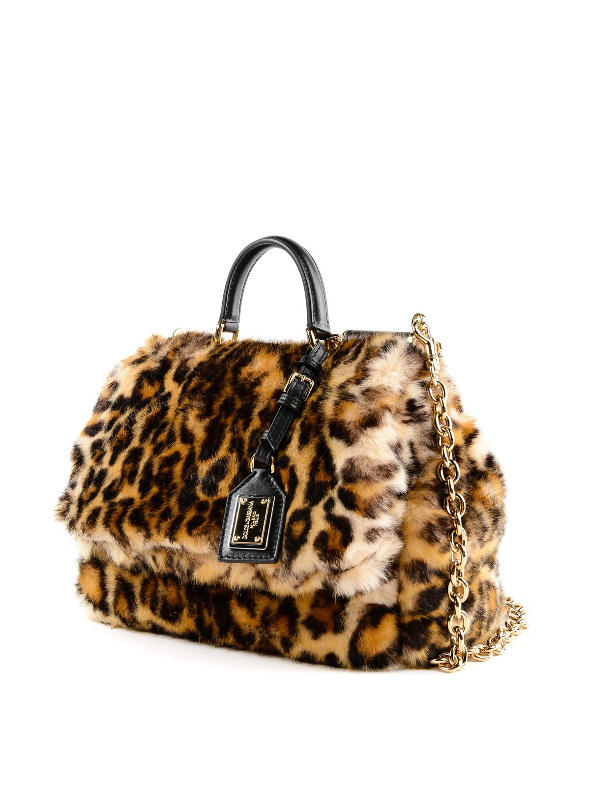 bc8adf117f DOLCE   GABBANA  totes bags online - Sicily Soft Leo bag in faux fur