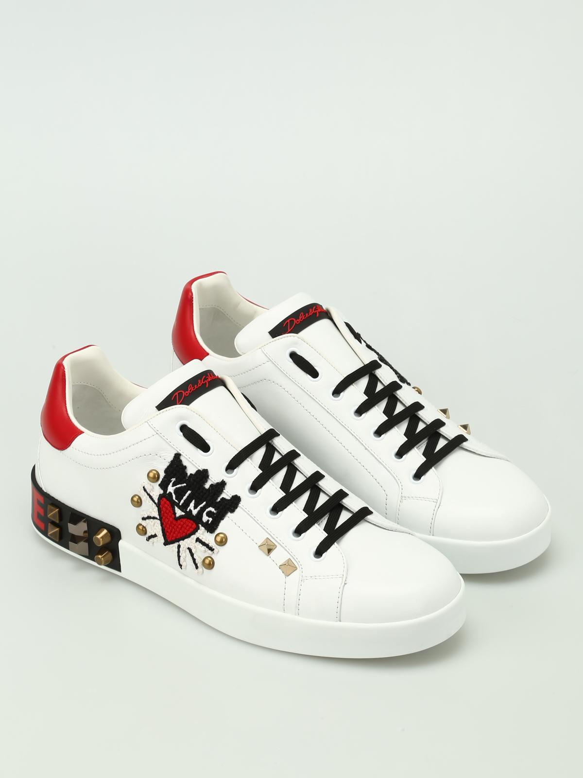 Gabbana - King of Love leather sneakers