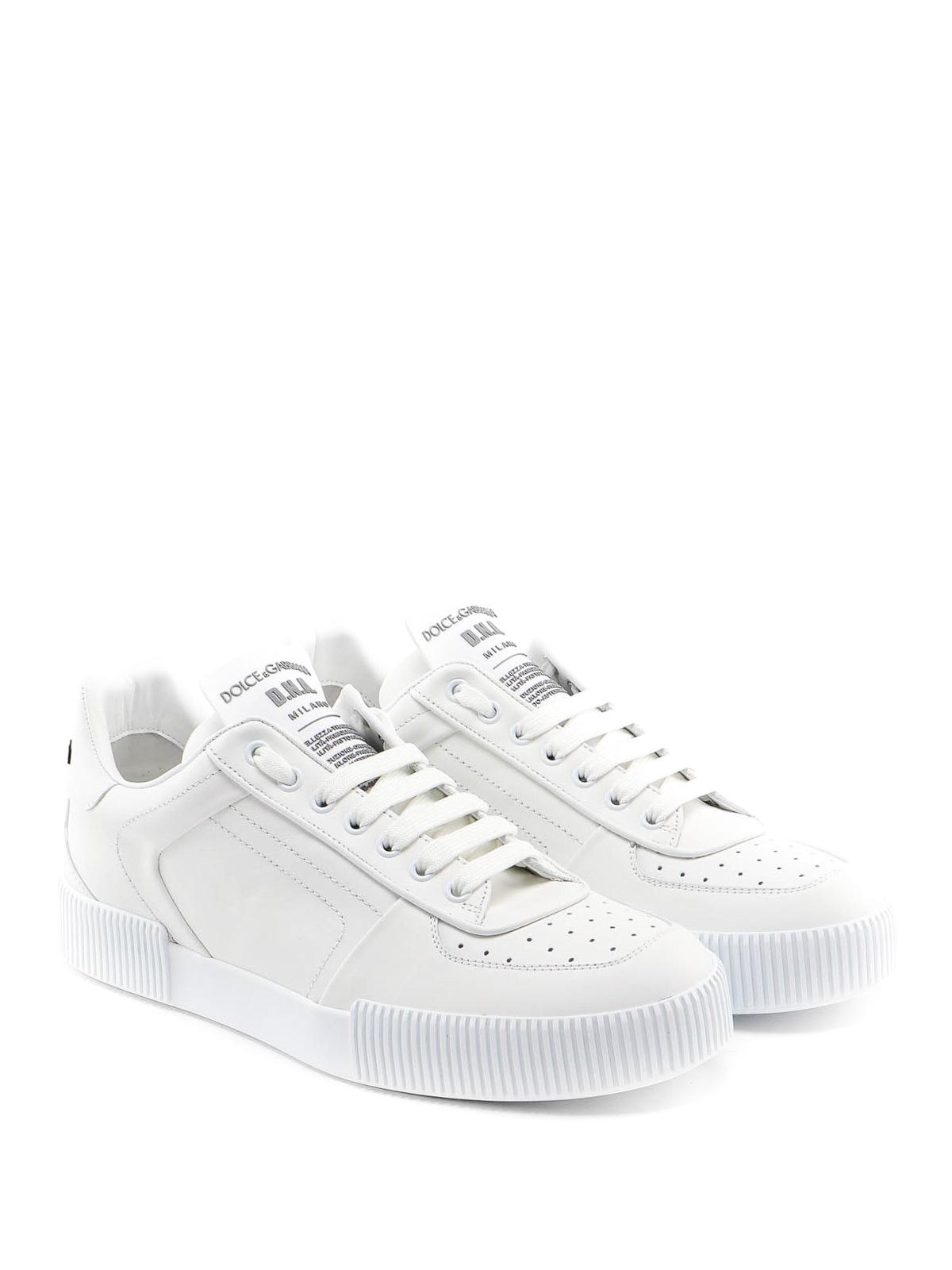 Gabbana - Miami white nappa sneakers