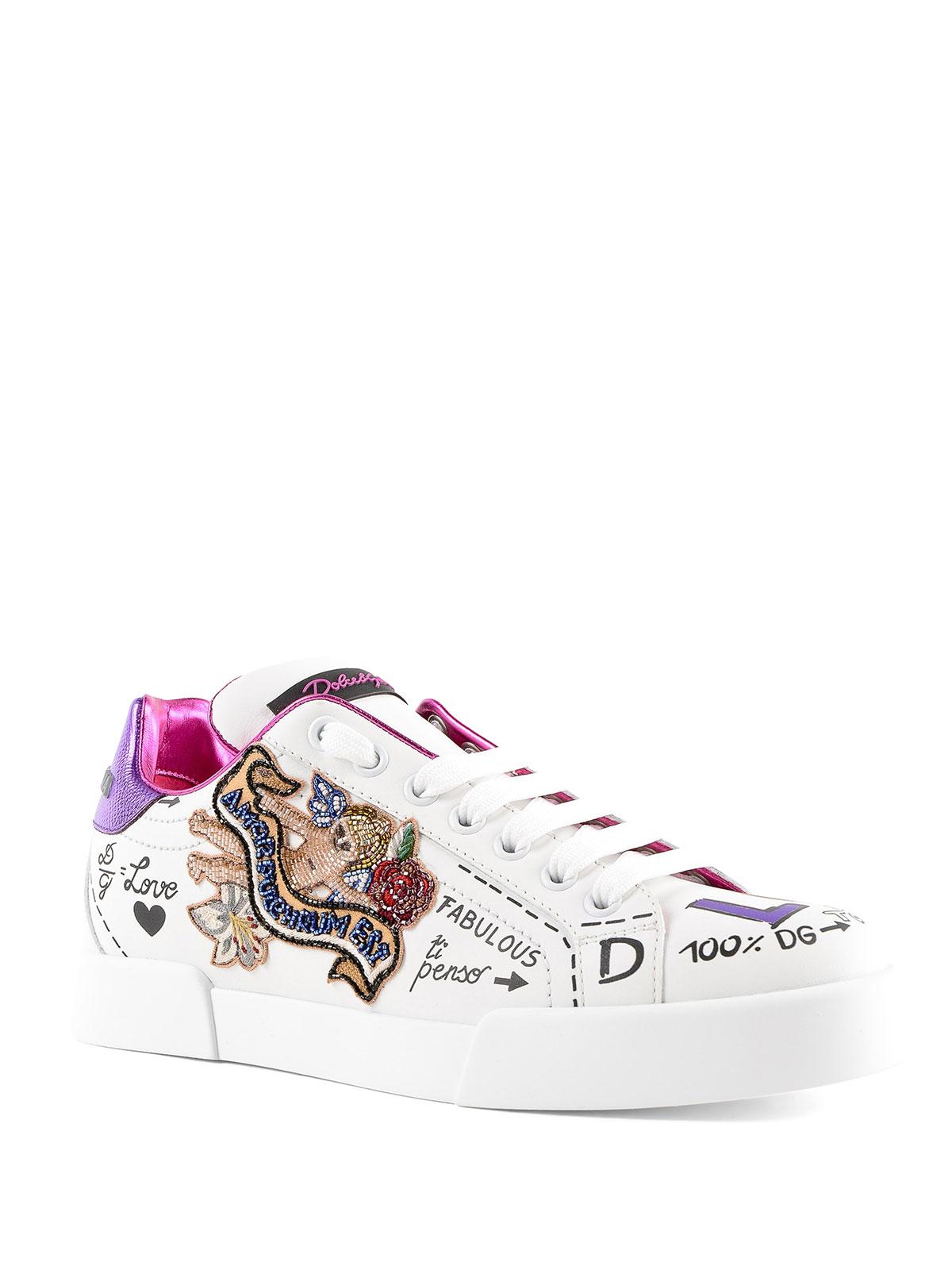 Dolce & Gabbana Sneaker Portofino con stampe e ricami